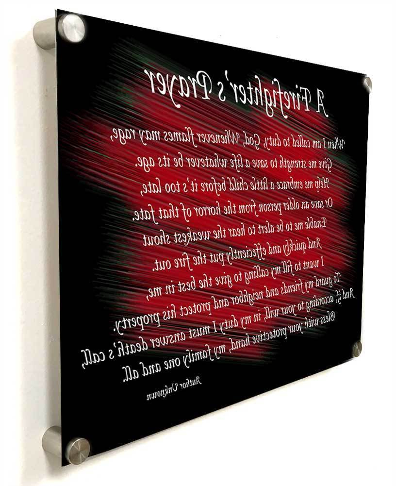 Latest A Fireman Prayer Wall Hangings Throughout A Firefighter's Prayer Thin Red Line Wall Decoration (View 8 of 20)
