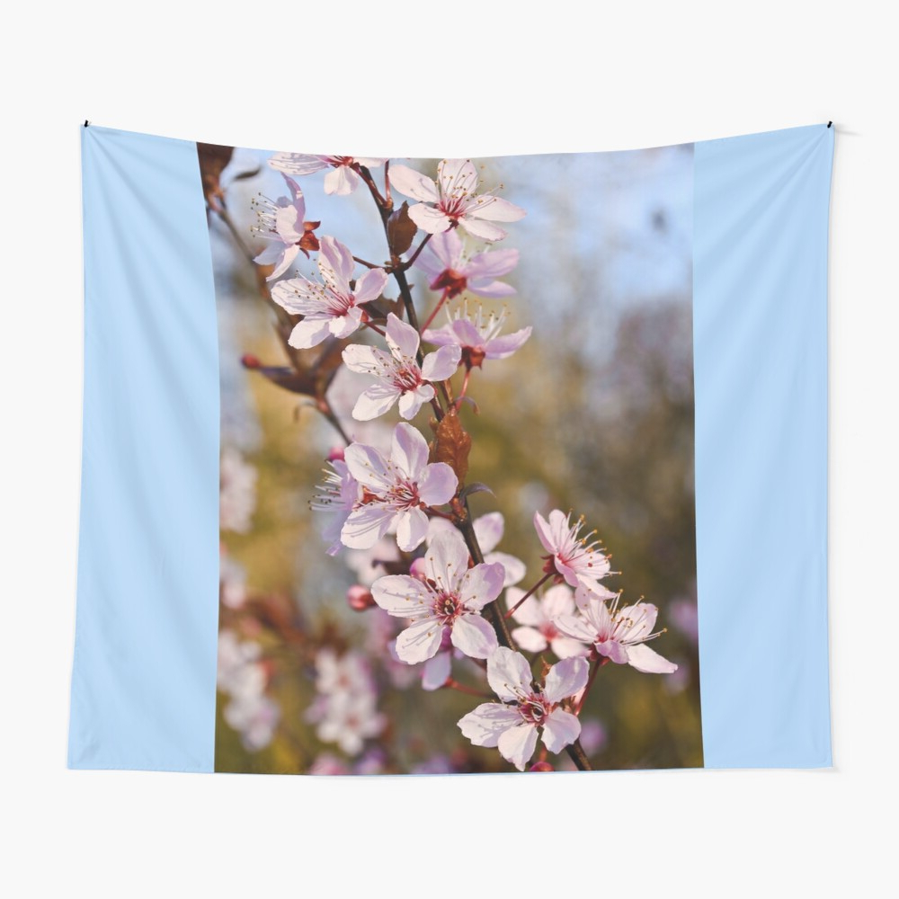 """Latest Almond Blossoms In Spring"""" Tapestrybonniephantasm Throughout Blended Fabric Spring Blossom Tapestries (View 11 of 20)"""