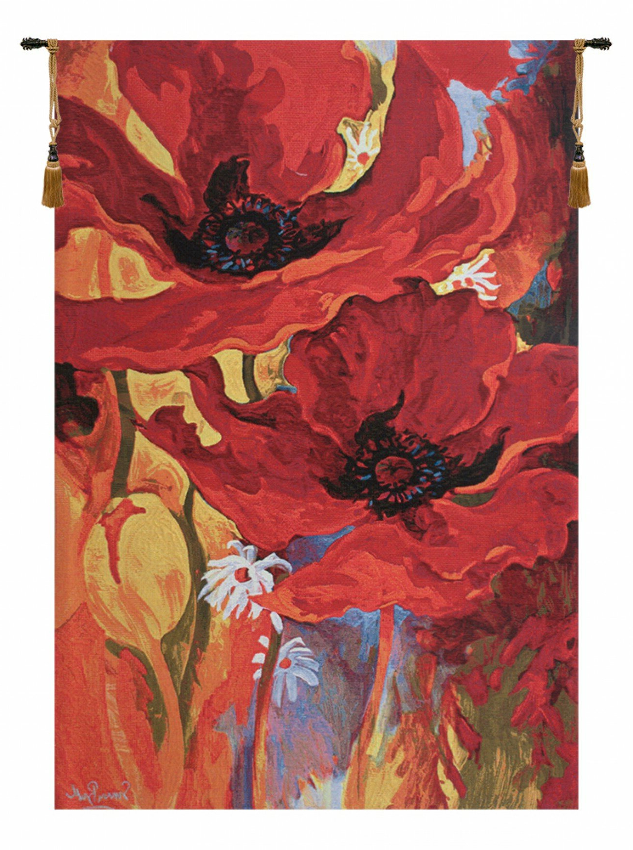 Latest Belgian Bright New Day Tapestry With Regard To Blended Fabric Ethereal Days Chinoiserie Wall Hangings With Rod (View 19 of 20)