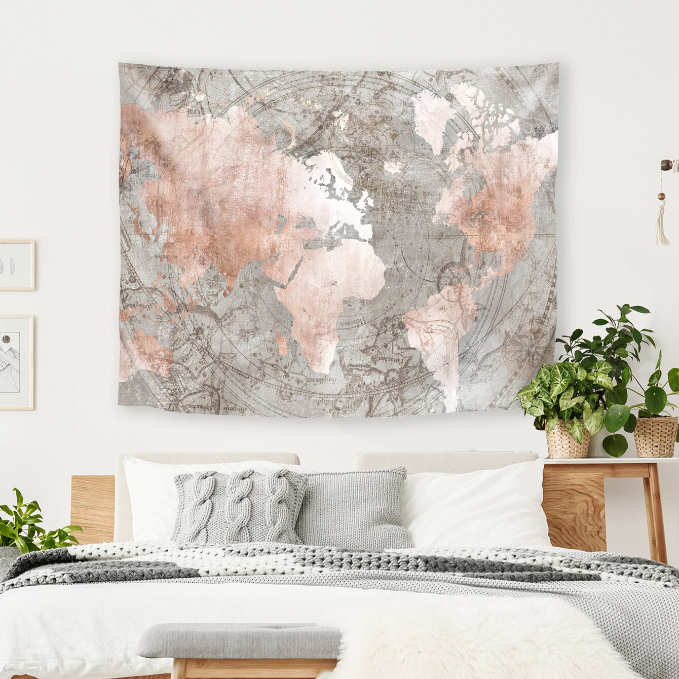 Latest Blended Fabric Italian Wall Hangings Throughout Adventure Await Tapestry (View 14 of 20)