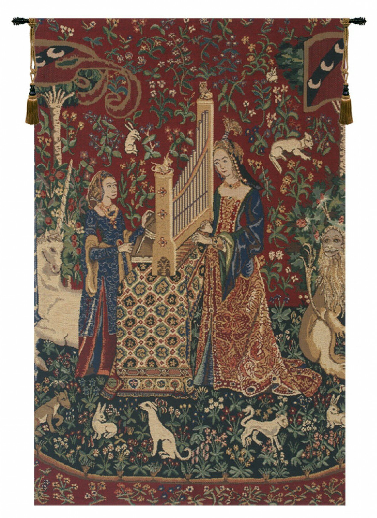 Latest Blended Fabric Mucha Spring European Wall Hangings Within Lady And The Organ Iii Wall Hanging (View 16 of 20)