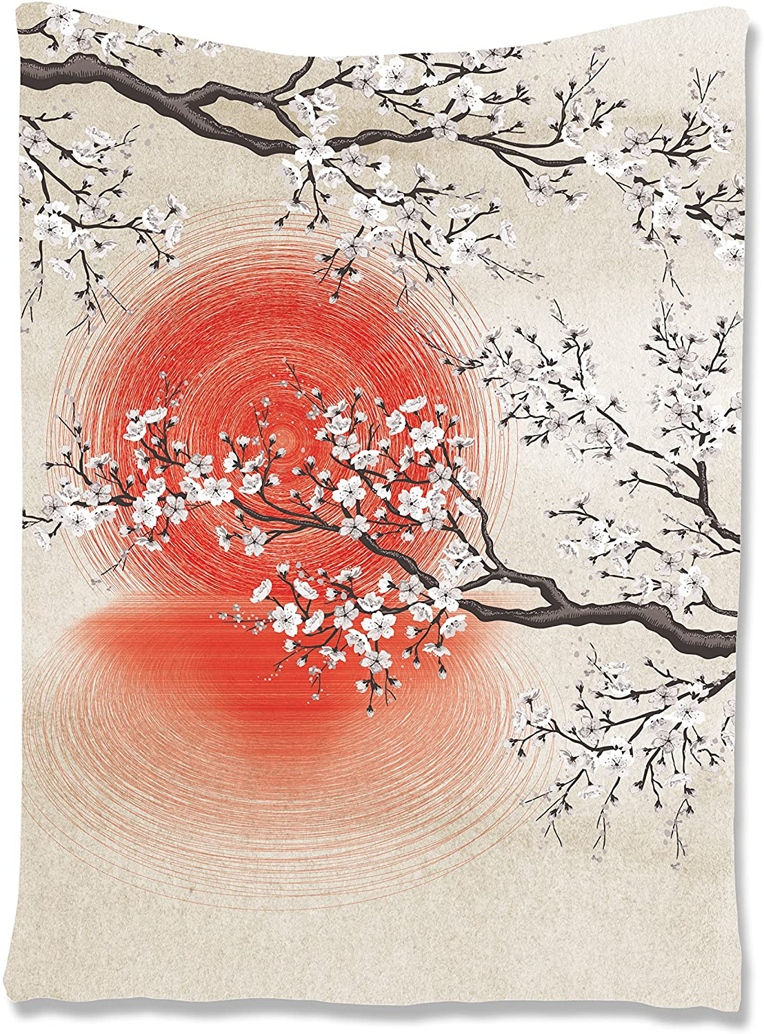 """Latest Blended Fabric Spring Blossom Tapestries Within Ambesonne Cherry Blossom Tapestry, Japanese Folkloric Themed Sakura Tree, Wall Hanging For Bedroom Living Room Dorm Decor, 40"""" X 60"""", Grey Yellow (View 14 of 20)"""