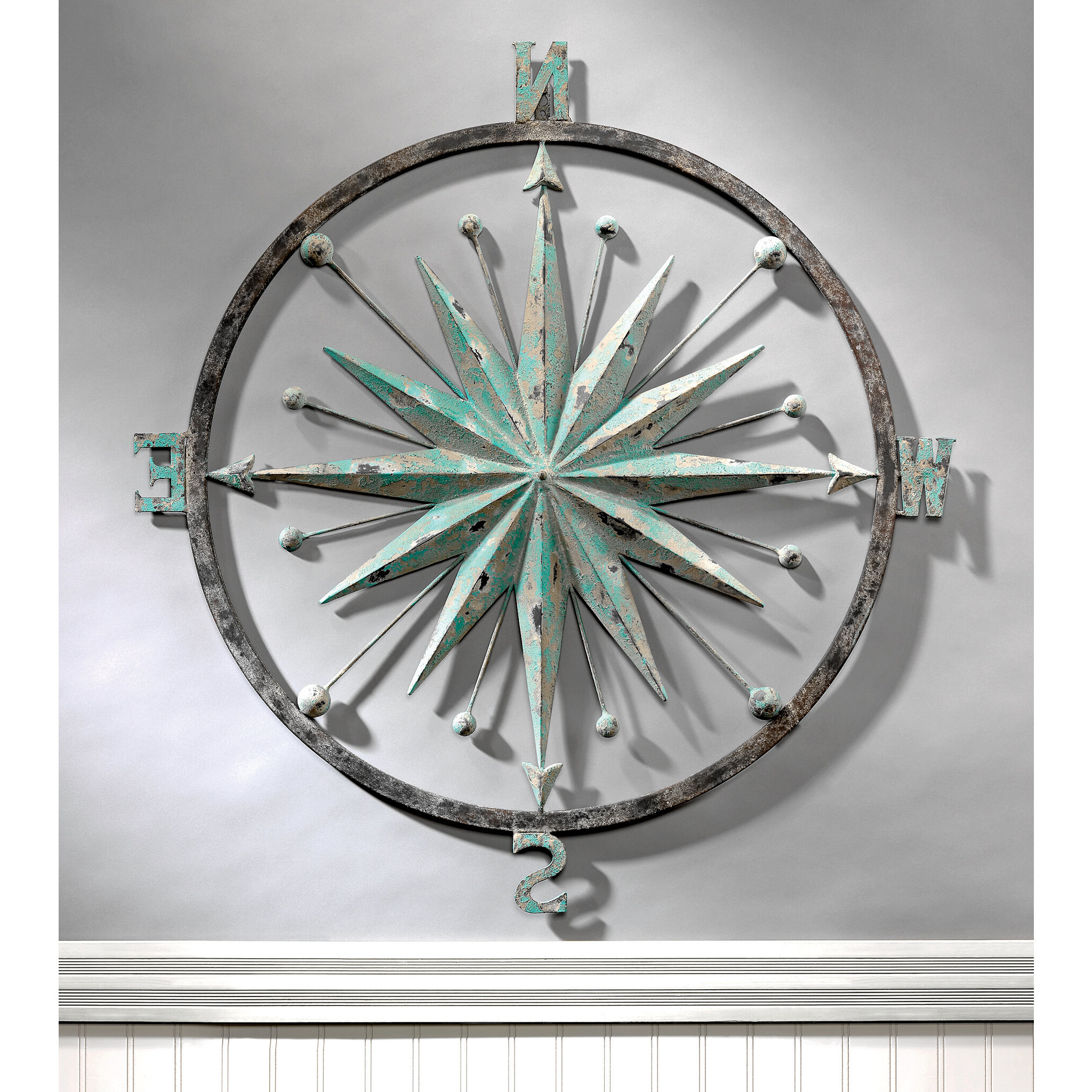 Latest Compass Metal Wall Décor By Beachcrest Home Pertaining To Rose Of The Winds Compass Rose Wall Décor (View 5 of 20)
