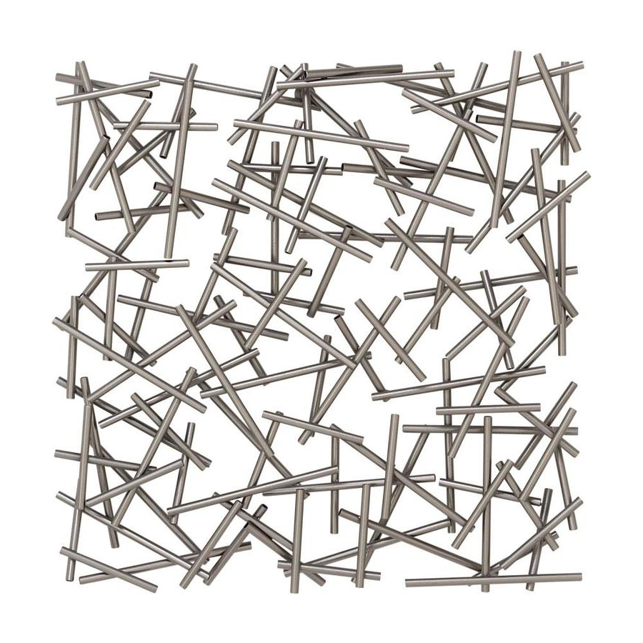 Latest Cosmolivingcosmopolitan Large Square Contemporary Silver For Metal Wall Décor By Cosmoliving (View 14 of 20)