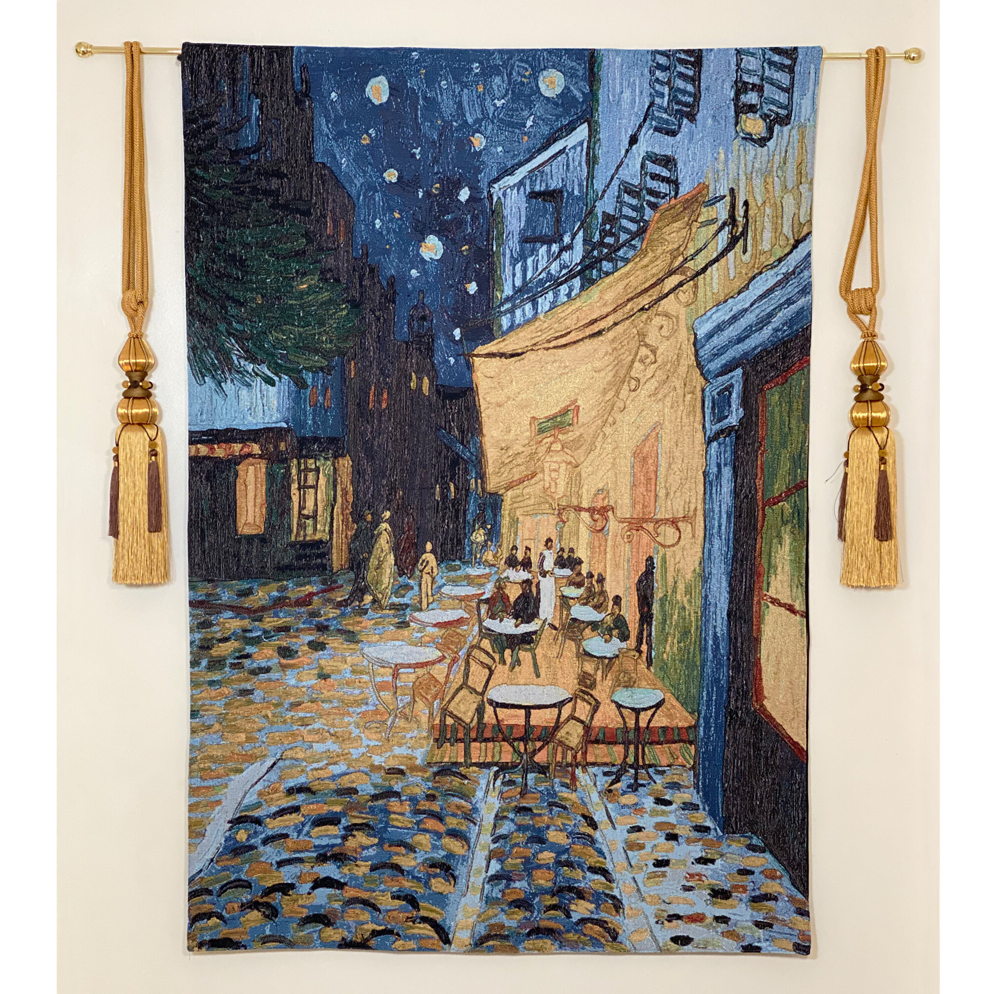 Featured Photo of Blended Fabric Van Gogh Terrace Wall Hangings