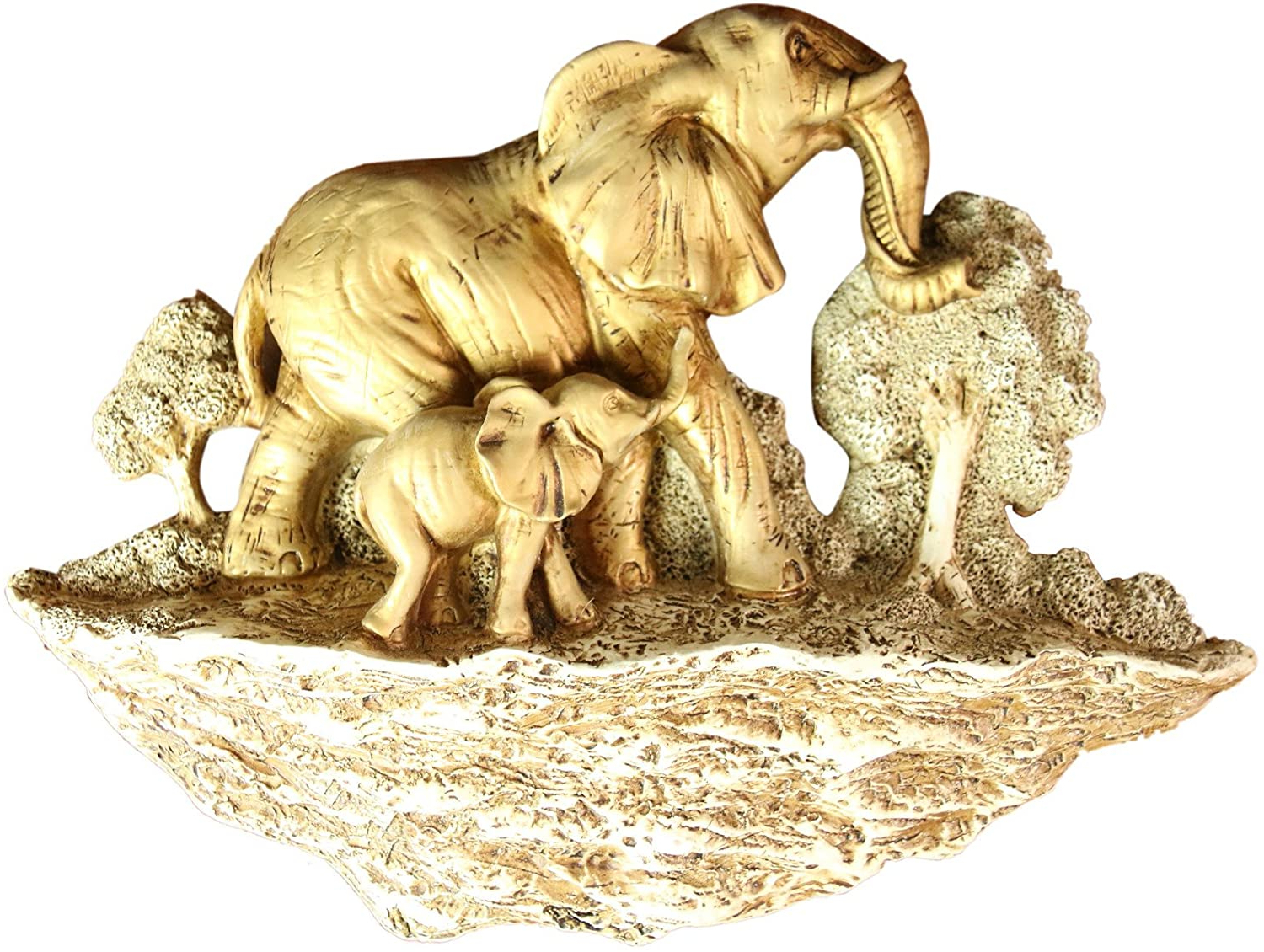 Latest Gold Elephants Sculpture Wall Décor Throughout Oh! Trendy Trade; Gold Elephant Wall Hang Home Decor (View 5 of 20)