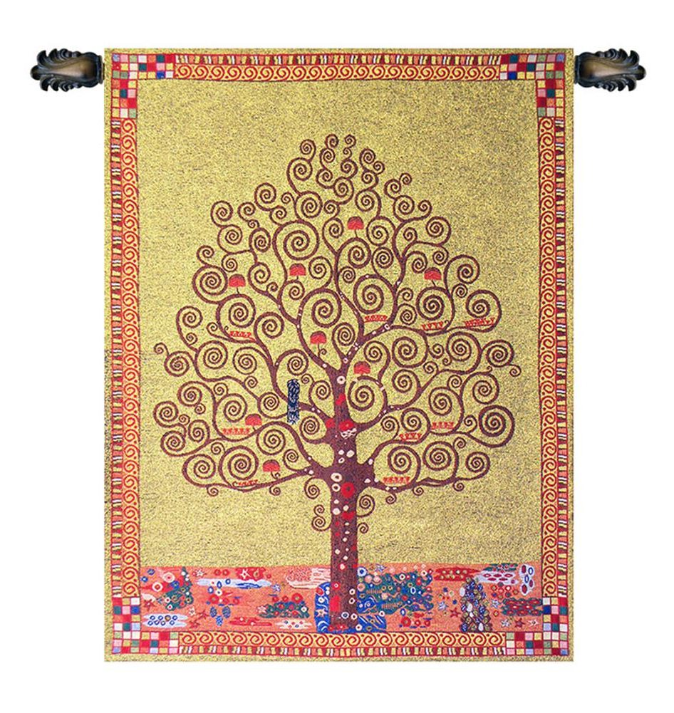 """Latest """"klimt's Tree Of Life Tapestry Wholesale C – H 33 X W 23 Wall Tapestry"""" – Walmart With Regard To Blended Fabric Klimt Tree Of Life Wall Hangings (View 12 of 20)"""