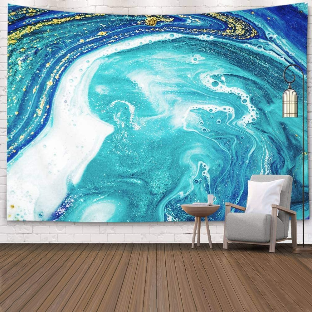 Latest Pamime Wall Hanging Tapestries,home Decor Tapestry Abstract Ocean Art Natural Luxury Style The Swirls Marble Ripples Dorm Room Bedroom Living Room With Regard To Blended Fabric In His Tapestries And Wall Hangings (View 17 of 20)