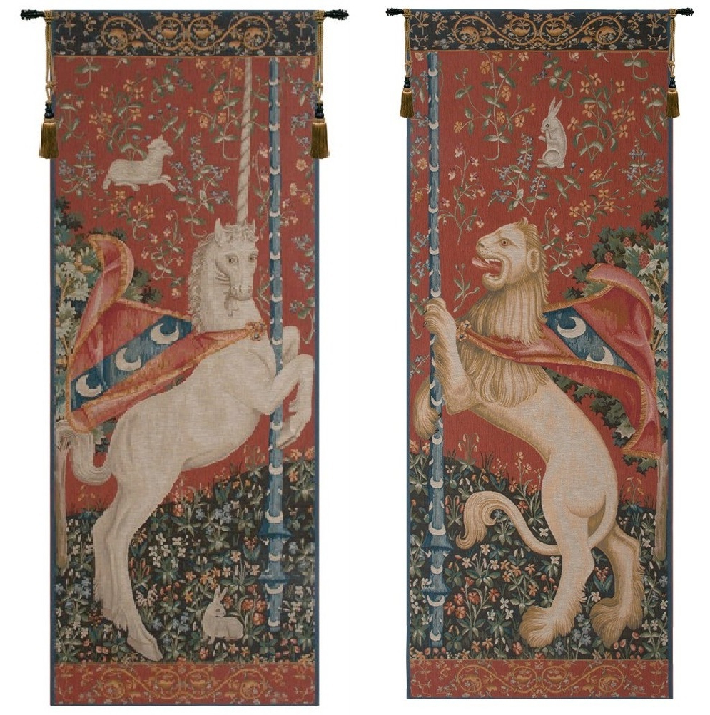 Latest Portiere Licorne And Lion French Wall Tapestries With Lion I European Tapestries (View 12 of 20)