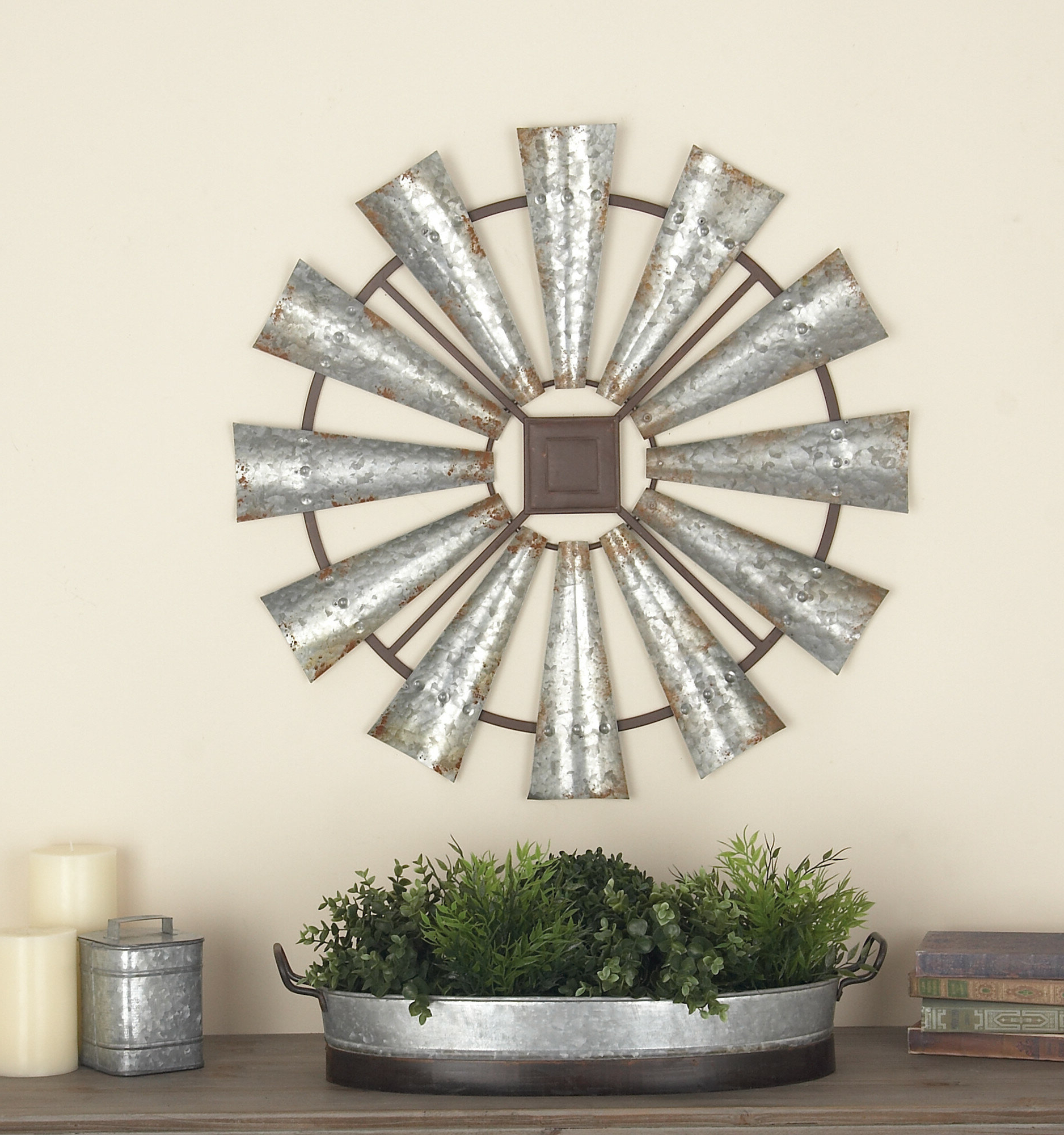 Latest Rustic Metal Wall Décor By Winston Porter Intended For Metal Wall Décor (View 16 of 20)