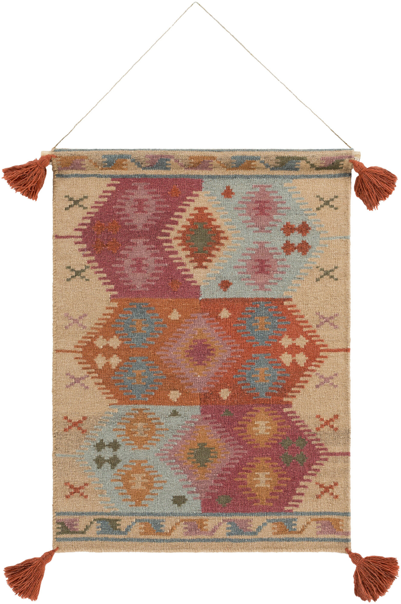 Latest Sariah Wool Wall Hanging With Hanging Accessories Included With Blended Fabric Clancy Wool And Cotton Wall Hangings With Hanging Accessories Included (View 4 of 20)