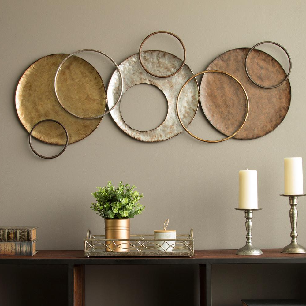 Latest Stratton Home Decor Knoxville Metal Wall Decor S09558 – The Home Depot Throughout Multi Circles Wall Décor (View 11 of 20)