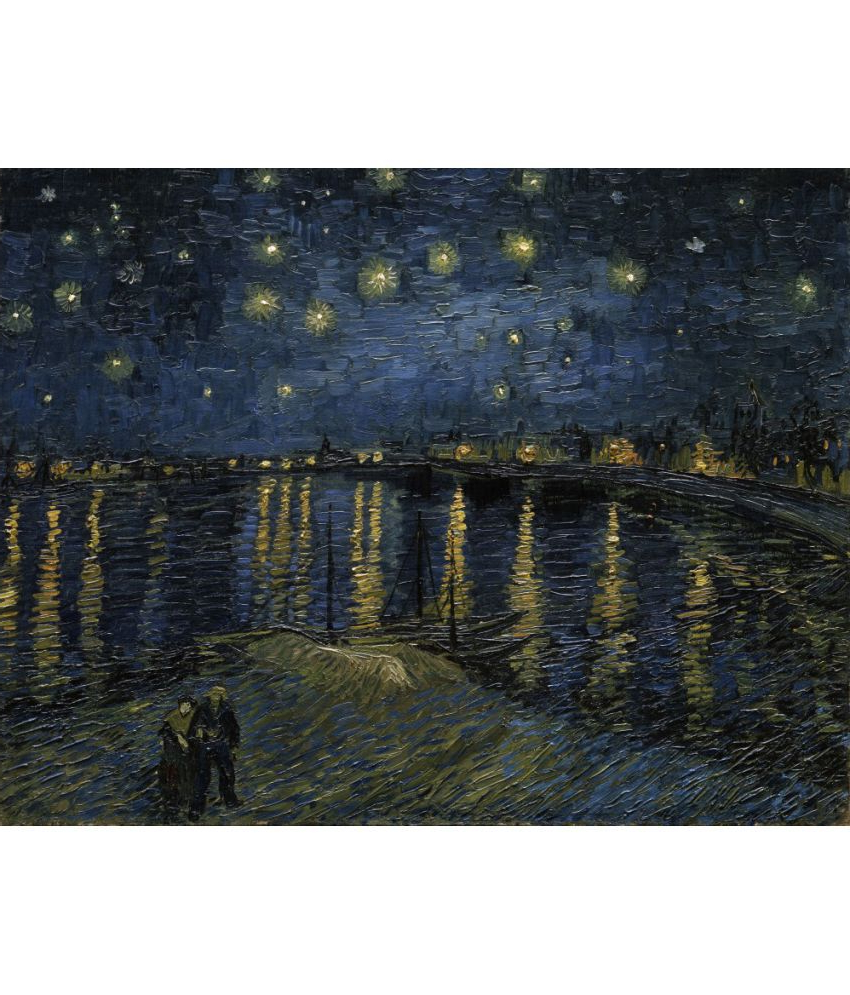 Latest The Museum Outlet – Van Gogh – Starry Night Over The Rhone Throughout Blended Fabric Van Gogh Starry Night Over The Rhone Wall Hangings (View 7 of 20)