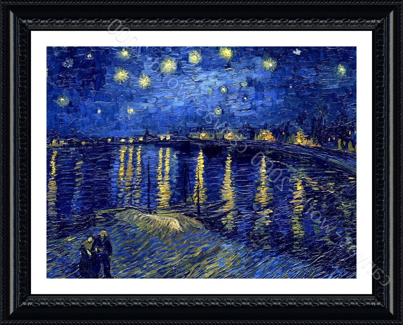 Latest Wall Décor Starry Night Over The Rhone Vincent Van Gogh Inside Blended Fabric Van Gogh Starry Night Over The Rhone Wall Hangings (View 4 of 20)