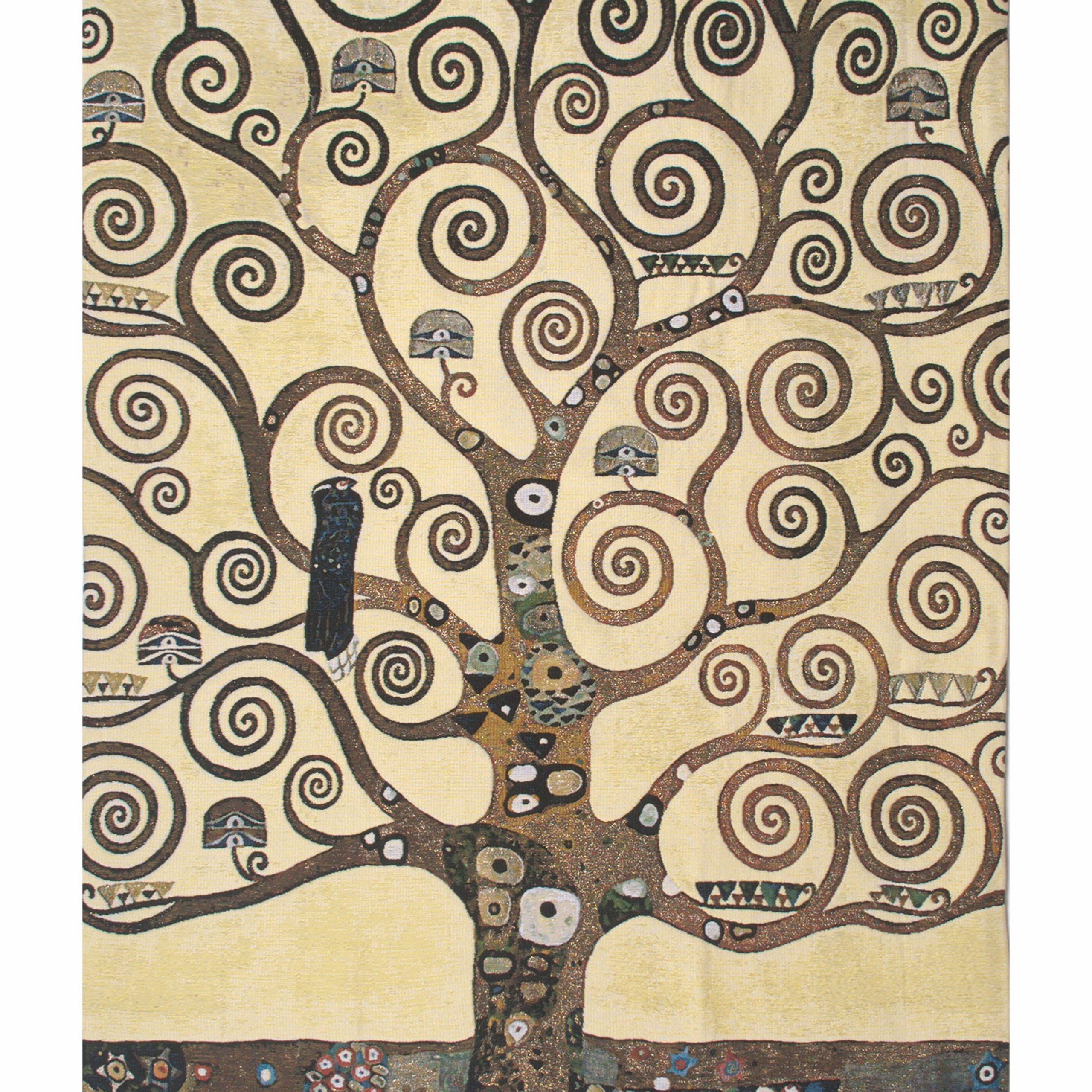 Lebensbaum Klimt Tree Of Life Belgian Wall Tapestry For Latest Blended Fabric Klimt Tree Of Life Wall Hangings (View 5 of 20)