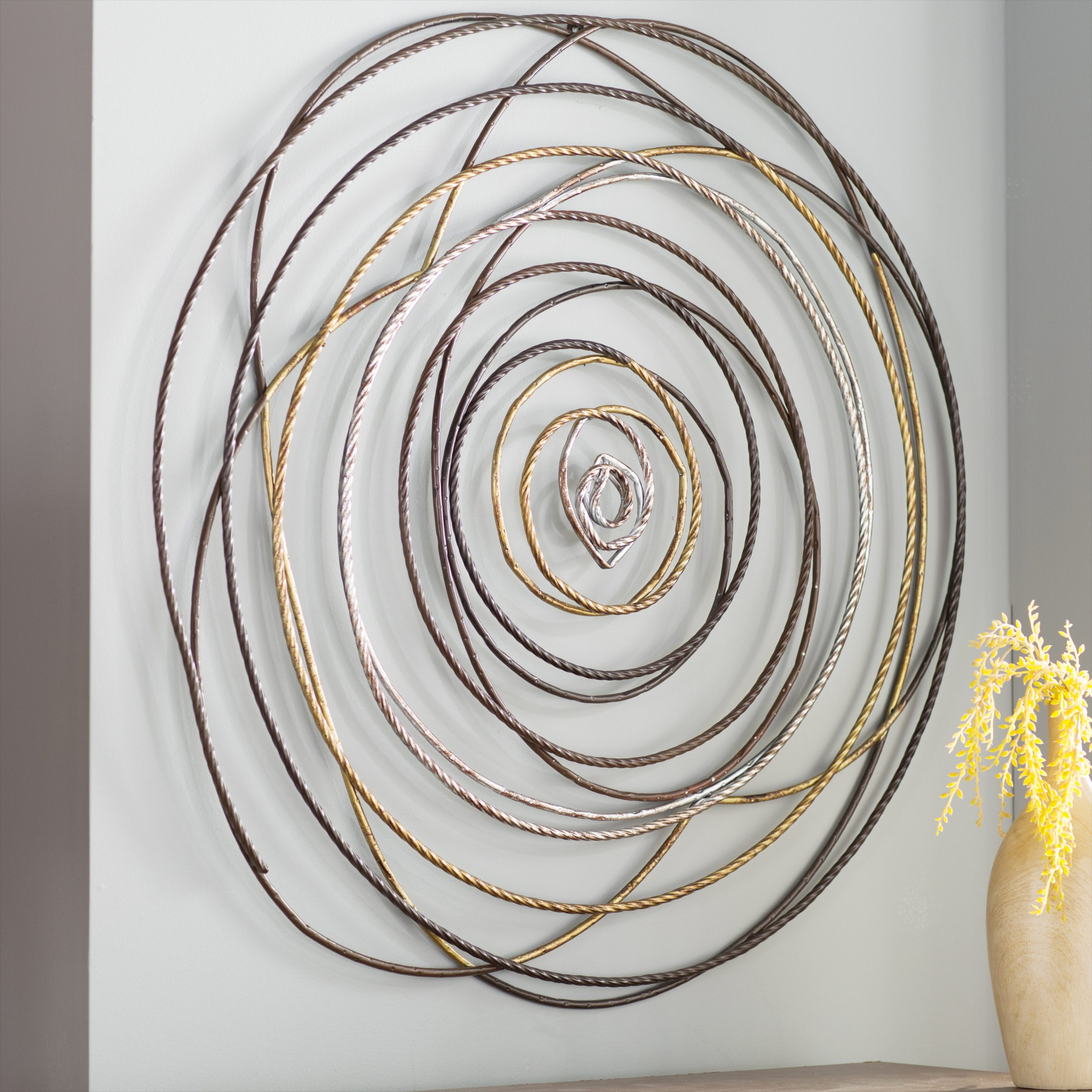 Looped Wall Décor By Wade Logan With Well Liked Contemporary Metal Braid Wall Décor (View 5 of 20)