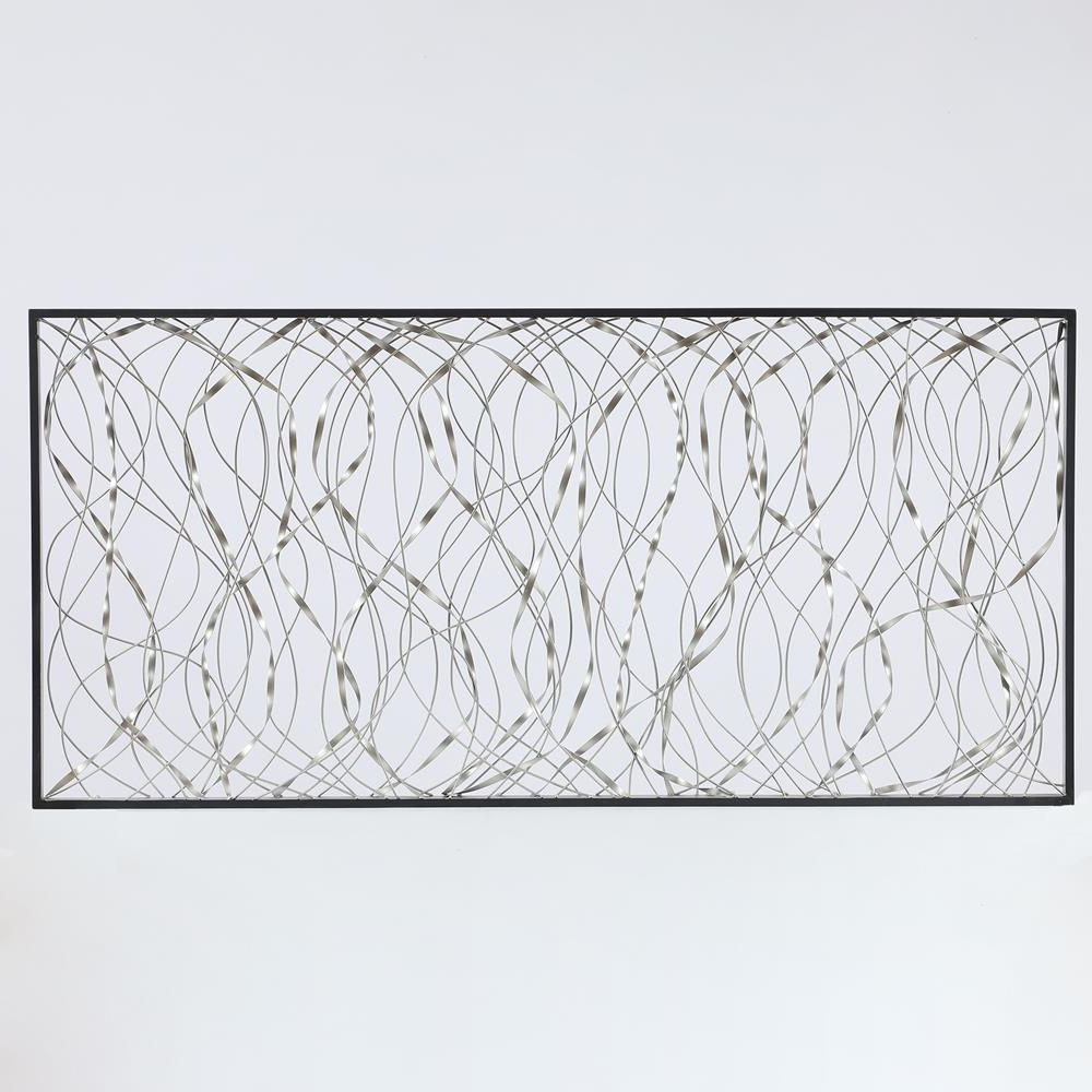 Luxen Home Metal Infinity Rectangular Wall Decor Wha781 – The Home Depot With Preferred Rectangular Metal Wall Décor (View 19 of 20)