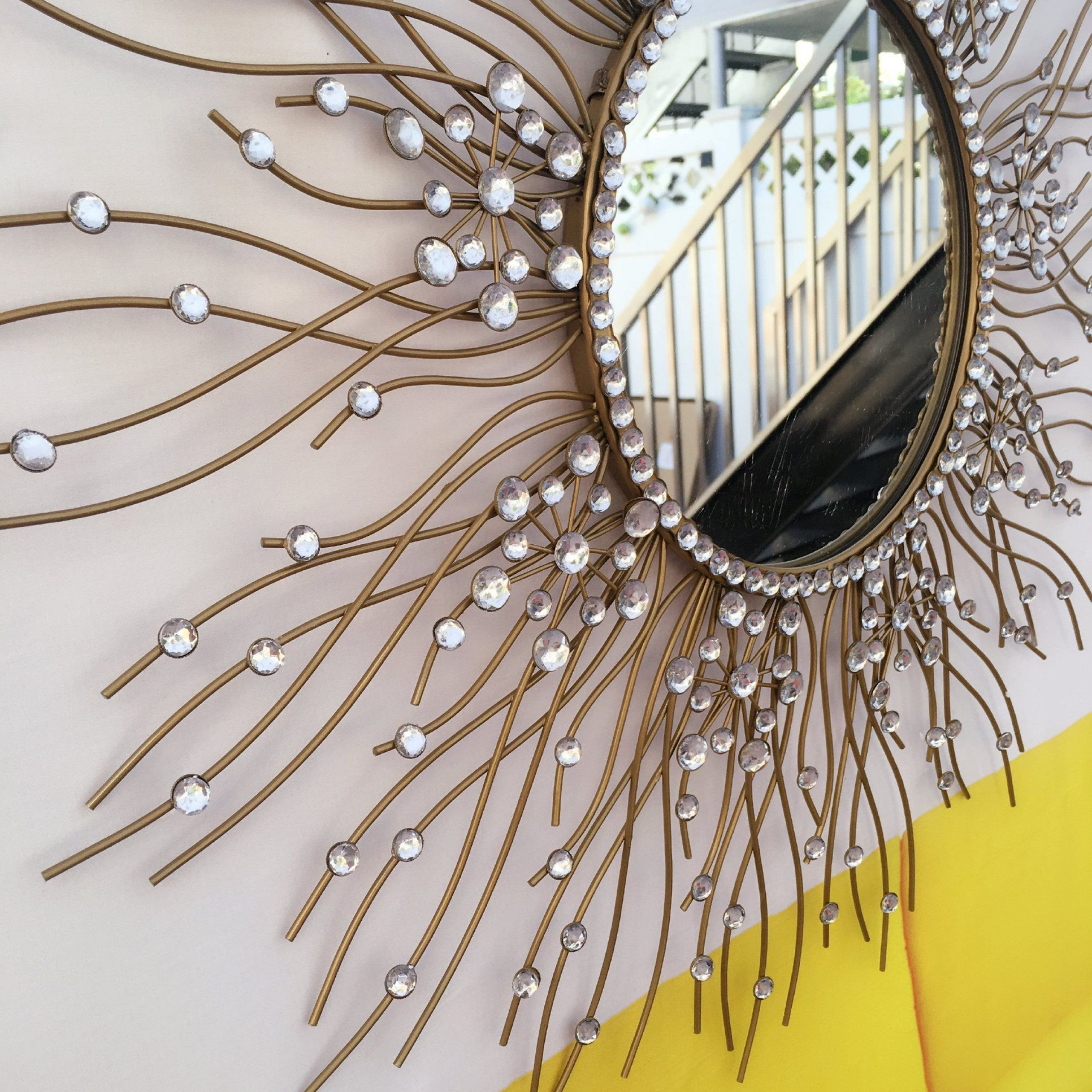 Maria Metal Capiz Wall Décor With Most Up To Date Decorative Starburst Mirrormetal Wall Mirrorwall Hanging (View 6 of 20)