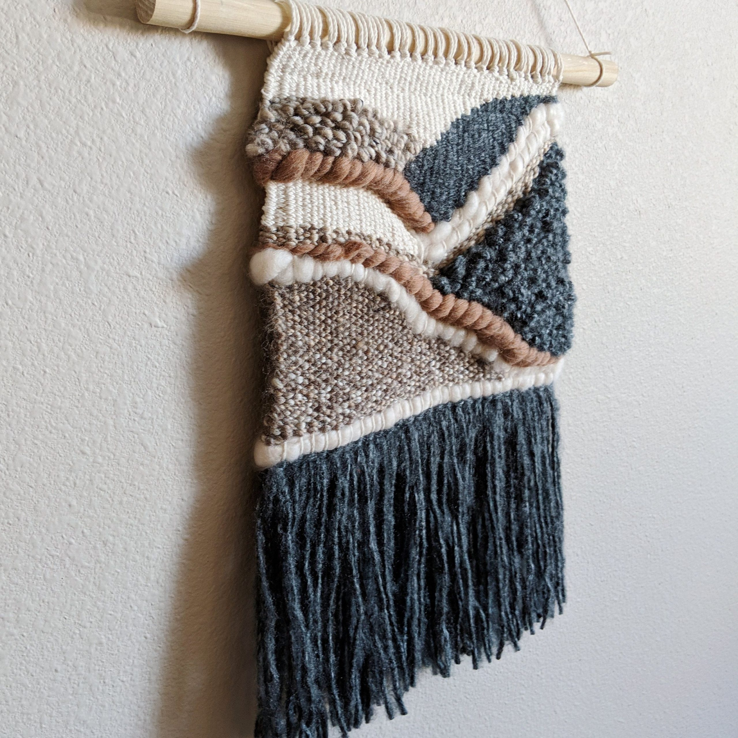 Medium Neutral Woven Wall Hanging, Home Decor, Tapestry Intended For Most Popular Hand Woven Wall Hangings (View 6 of 20)