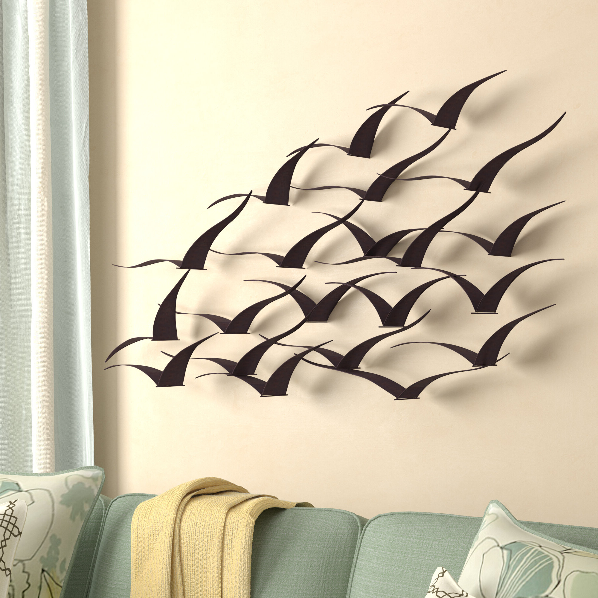 Metal Birds Wall Décor By Beachcrest Home Pertaining To Recent Metal Nautical Wall Accents (View 15 of 20)