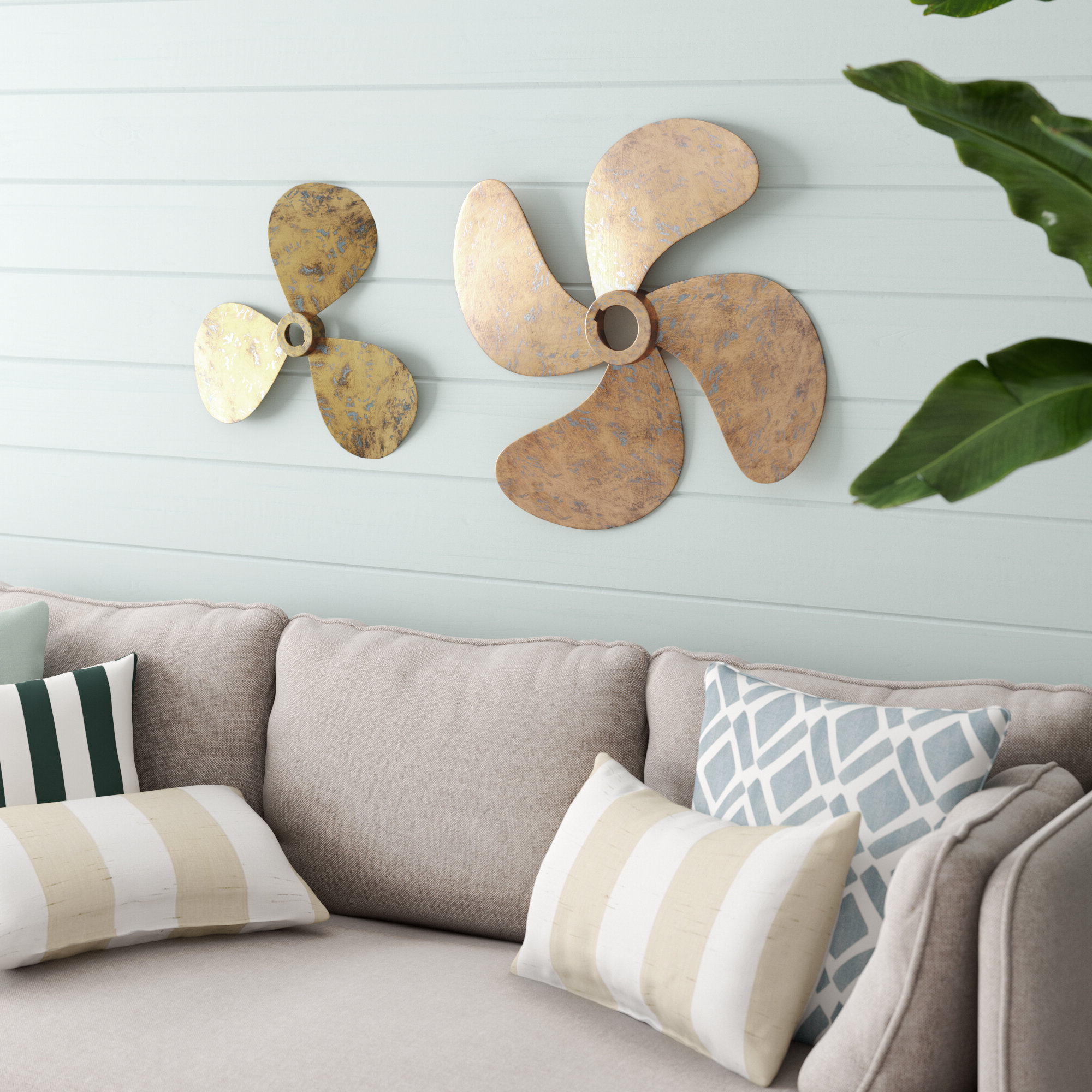 Metal Birds Wall Décor By Beachcrest Home With Favorite Metal Propellers Wall Decor Set (View 13 of 20)