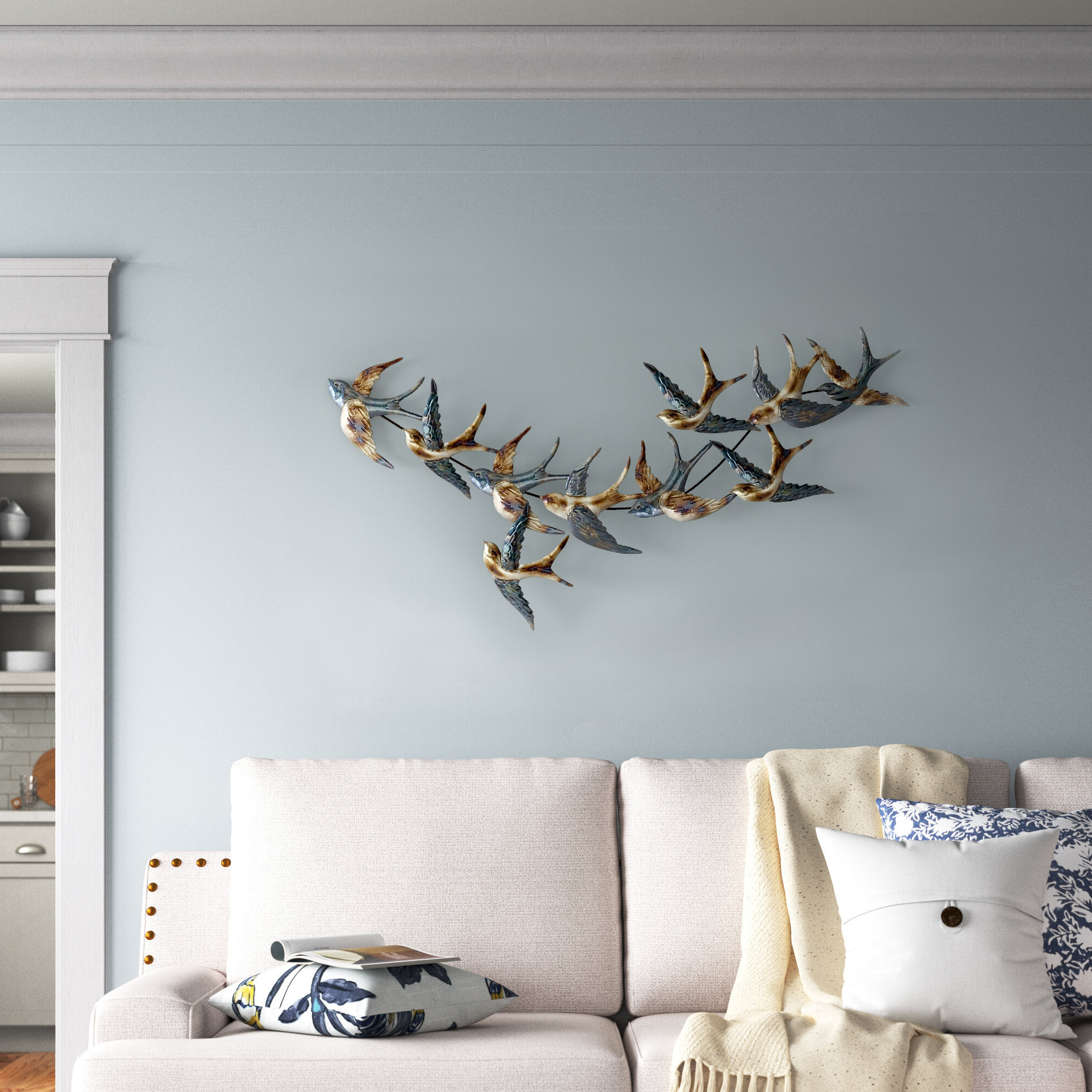 Metal Birds Wall Décor By Beachcrest Home With Most Popular Metal Bird Wall Décor (View 3 of 20)