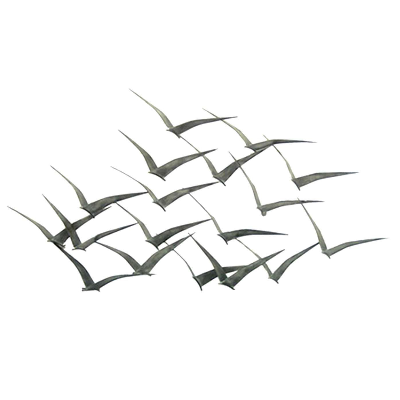 Metal Birds Wall Décor By Beachcrest Home With Regard To Most Recent Flock Of Metal Flying Birds Wall Art (View 19 of 20)