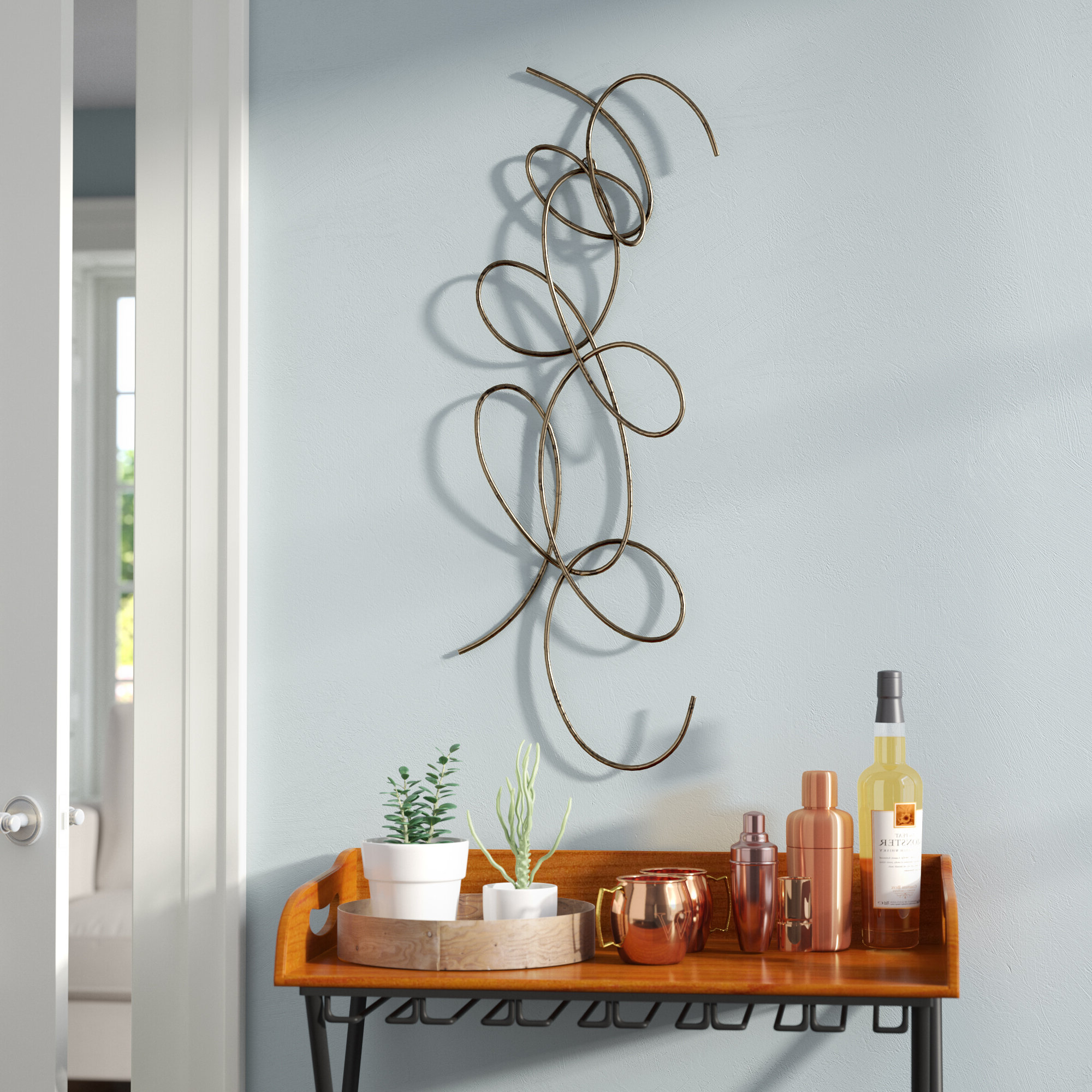 Metal Capiz Wall Decor By Wrought Studio Inside Well Known Dark Bronze Metal Wall Décor (View 13 of 20)