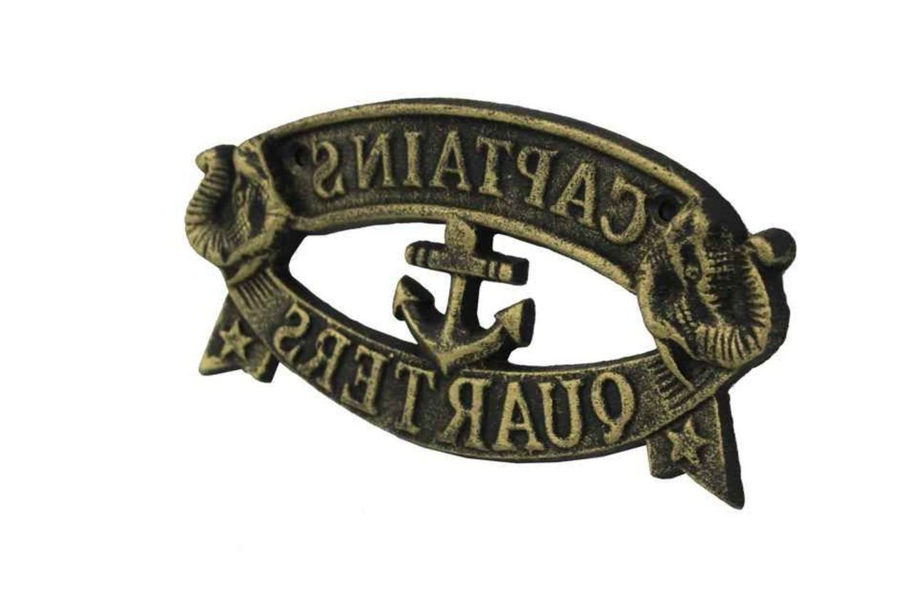 Featured Photo of Metal Captains Quarters Sign Wall Décor