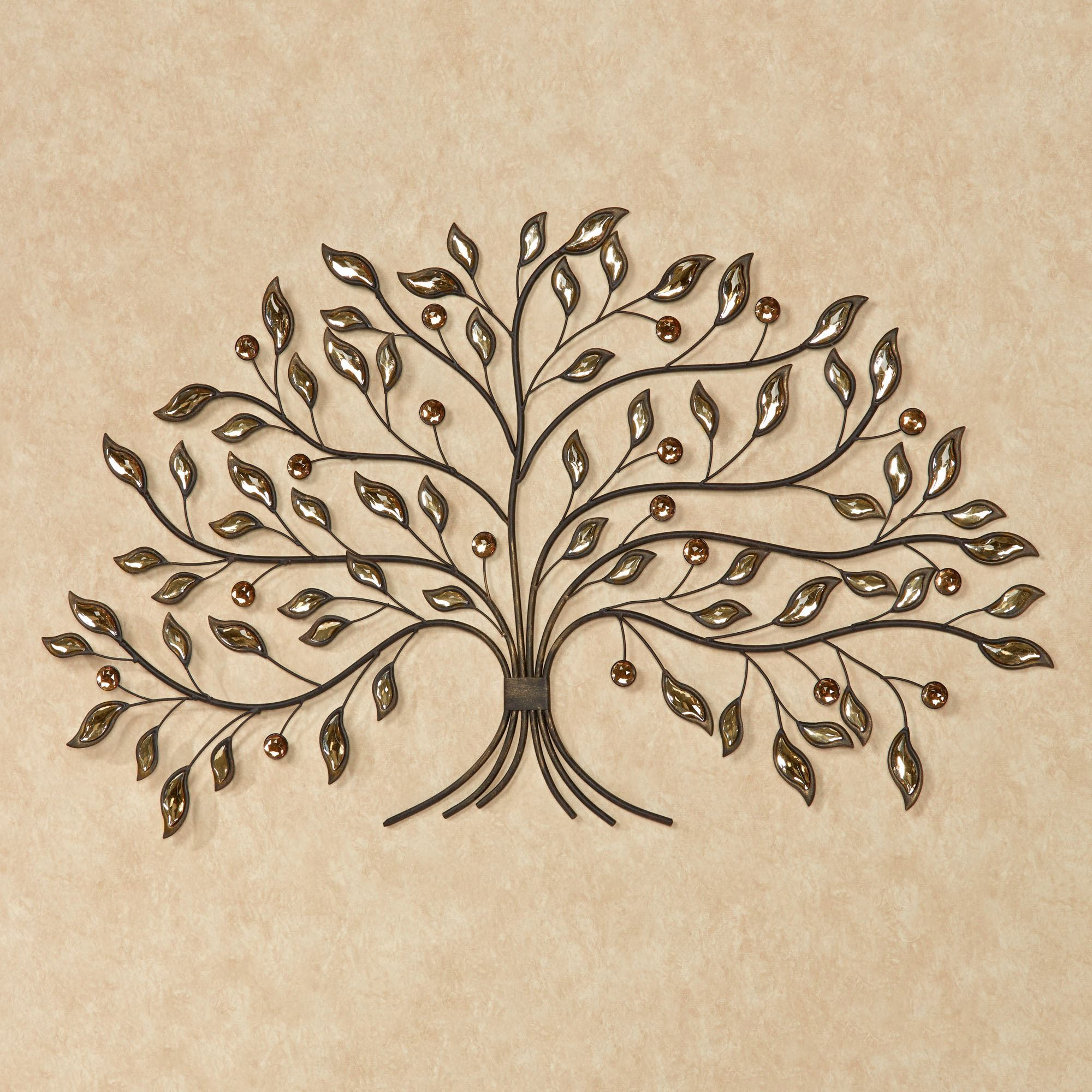 Metal Leaf With Berries Wall Décor Intended For Trendy Alexandra Vining Gem Tree Metal Wall Art (View 14 of 20)