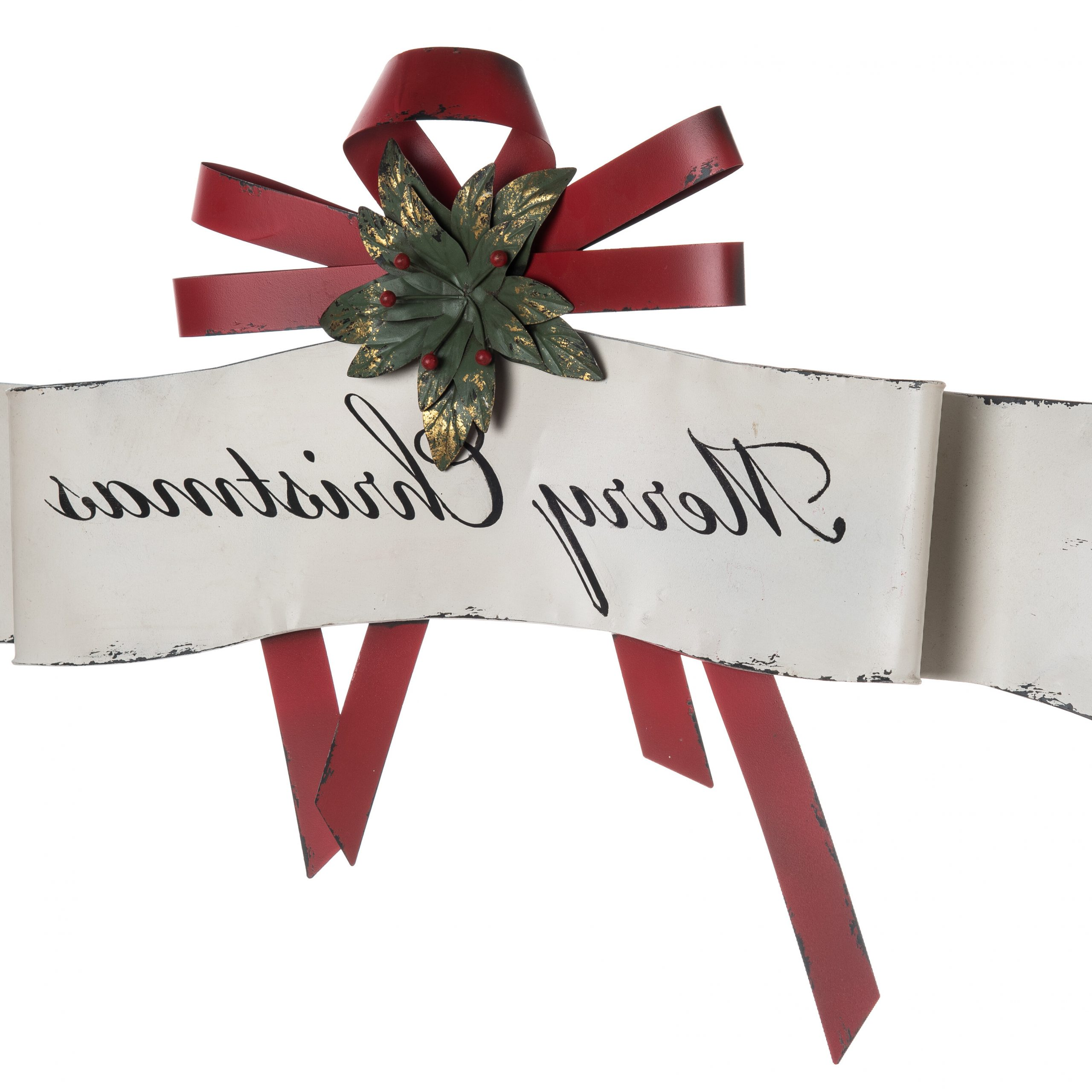 """Metal """"merry Christmas"""" Banner Wall Décor With Regard To Well Known Merry Christmas Sign Wall Décor (View 14 of 20)"""