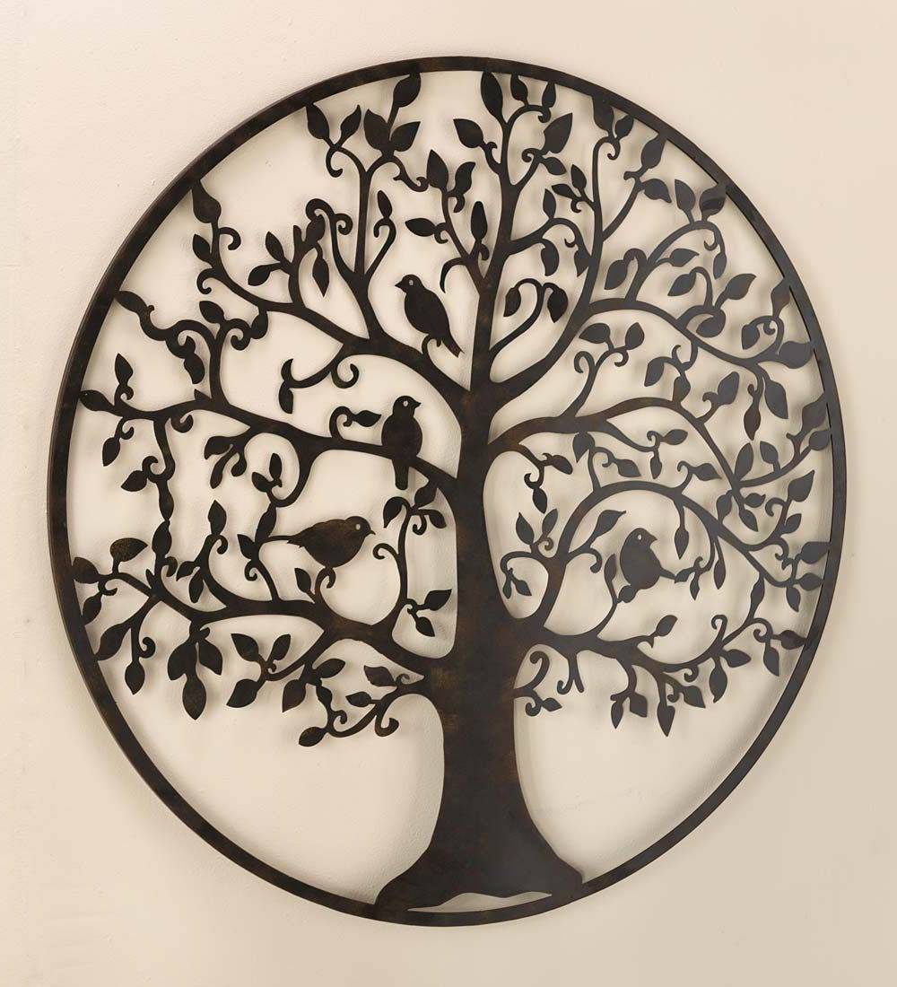 Metal Tree Intended For Family Themed Creative Metal Wall Décor (View 7 of 20)