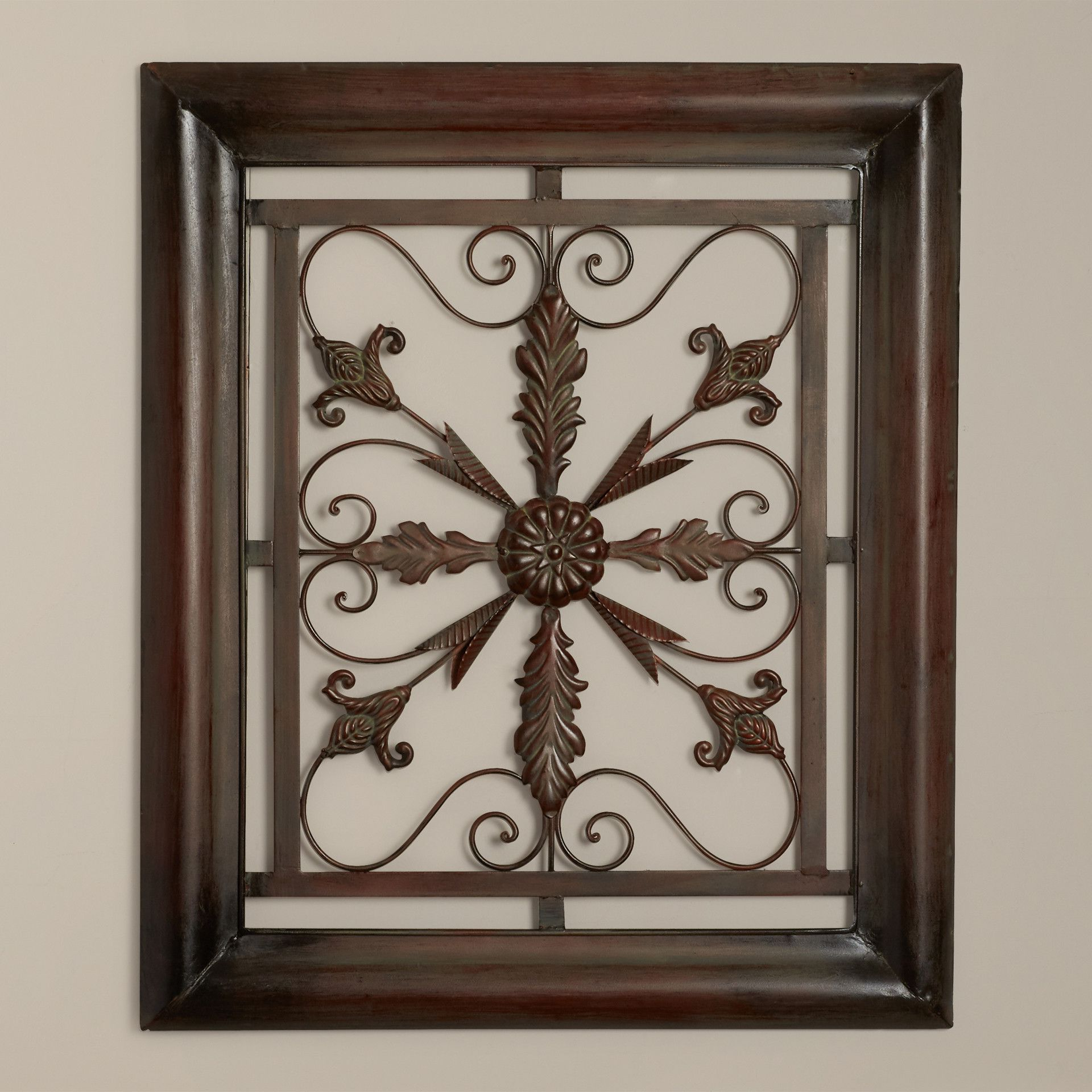 Metal Wall Décor By Charlton Home With Most Recent Charlton Home® Bayliss Square Scroll Wall Decor (View 7 of 20)