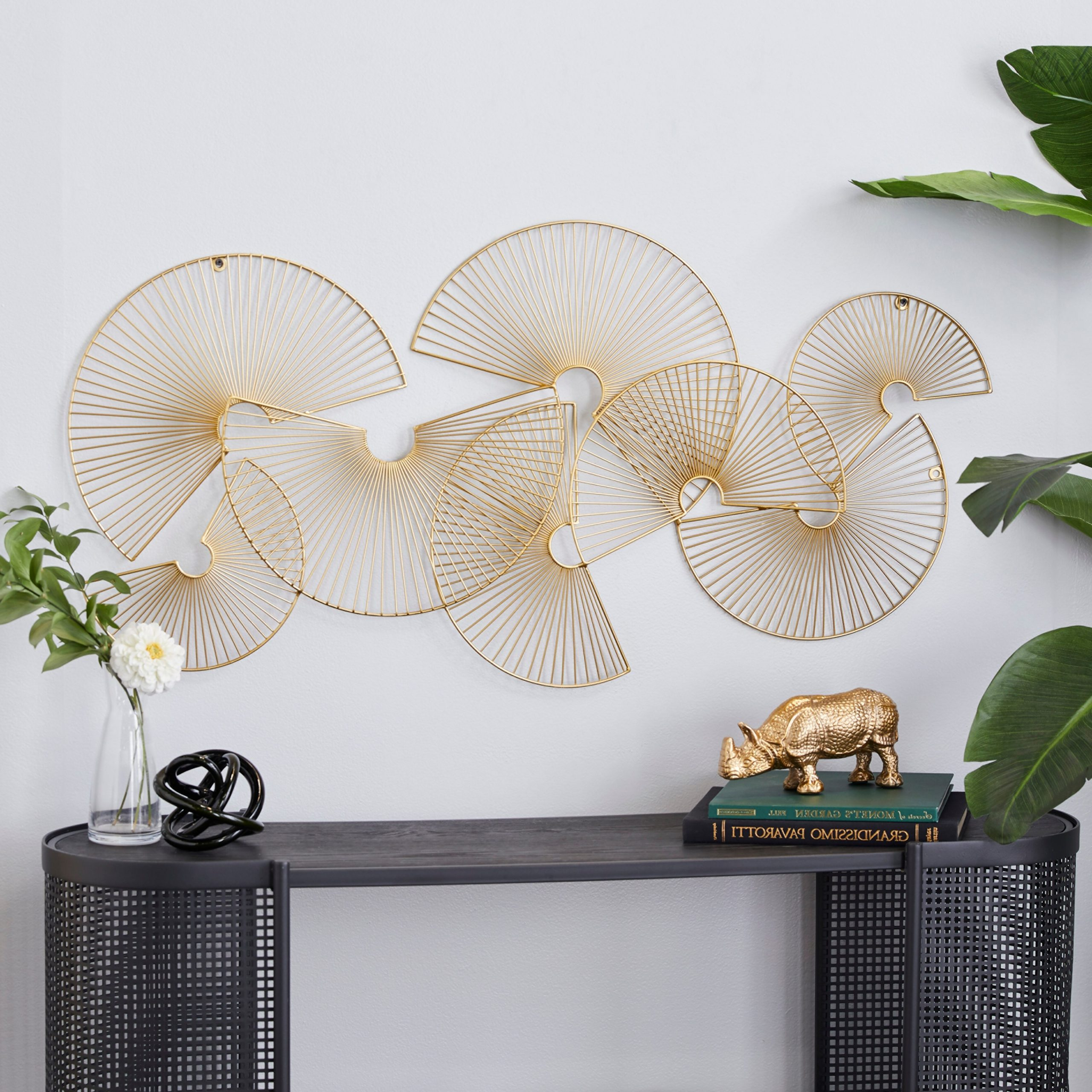 Metal Wall Décor By Cosmoliving In Fashionable Cosmolivingcosmopolitan Gold Metal Wall Decor 45 X 22 In – 1 X 18 X (View 5 of 20)