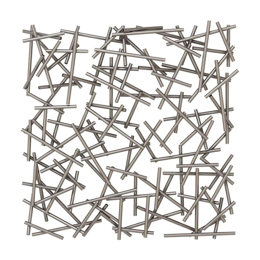 Metal Wall Décor By Cosmoliving With Latest Cosmolivingcosmopolitan Large Square Contemporary Silver (View 14 of 20)