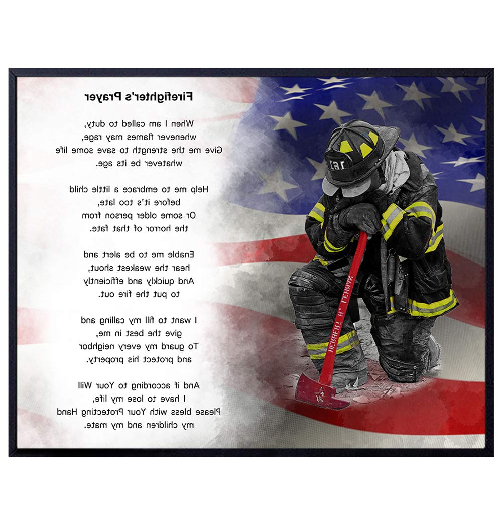 Most Current A Fireman Prayer Wall Hangings Within Firefighter's Prayer Wall Art Print – Perfect Gift For Firemen And First Responders – Great For Home Decor – Ready To Frame (8x10) Vintage Photo (View 2 of 20)