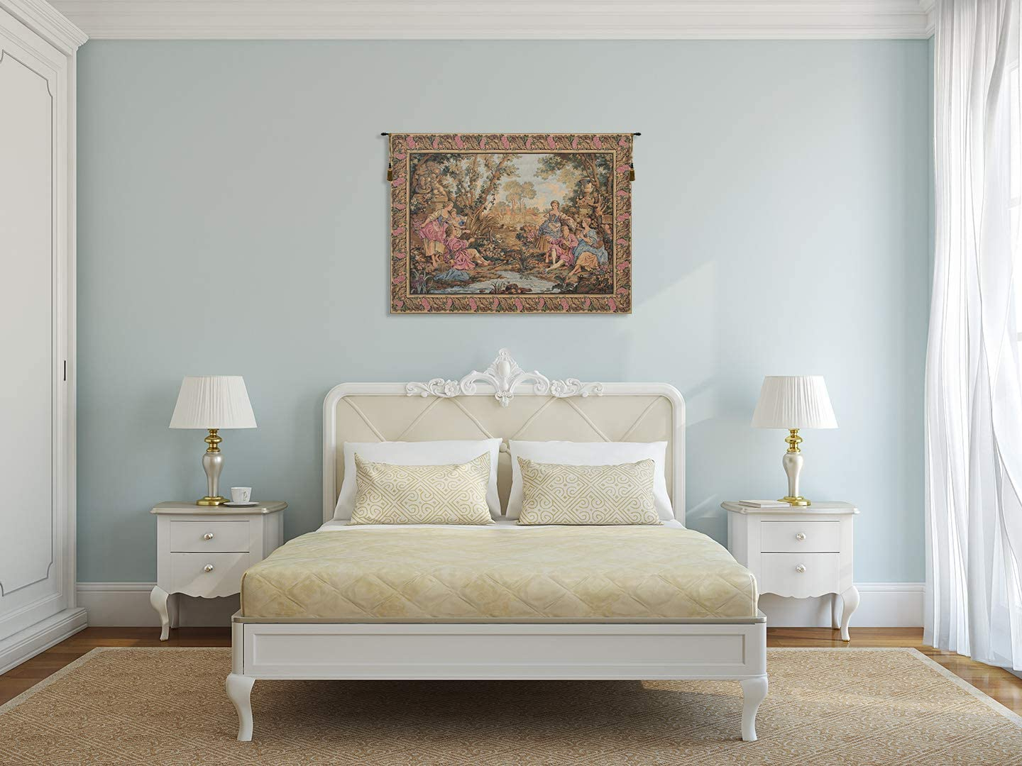 Most Current Blended Fabric Gallanteries European Wall Hangings In Amazon: Charlotte Home Furnishings Inc (View 7 of 20)