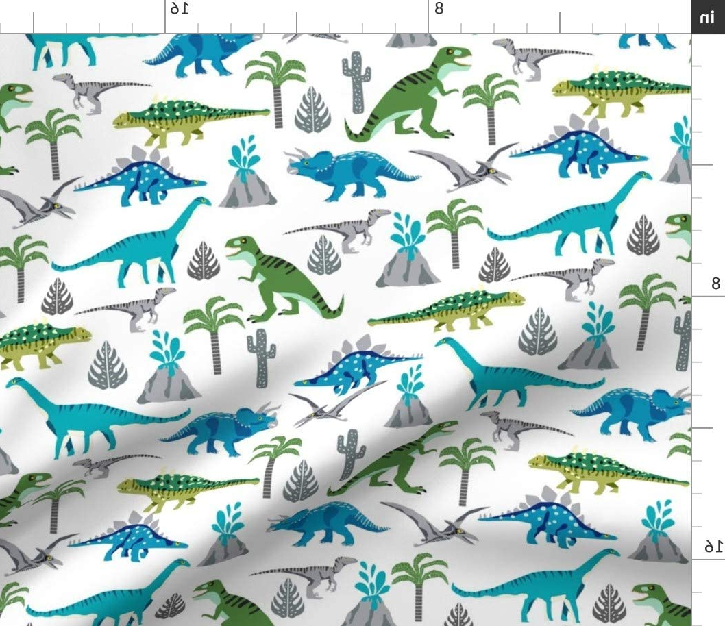 Most Current Blended Fabric Mod Dinosaur 3 Piece Wall Hangings Set Throughout Spoonflower Fabric – Dino Quilt Coordinate Dinosaur Nursery Cheater Dinosaurs Boys Decor Printed On Organic Cotton Knit Fabricthe Yard – Baby (View 5 of 20)