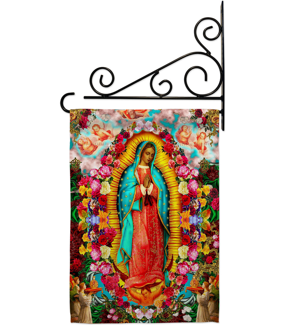 Most Current Blended Fabric Our Lady Of Guadalupe Wall Hangings Inside Our Lady Of Guadalupe 2 Sided Polyester/polyester Blend 18 X 13 In (View 14 of 20)
