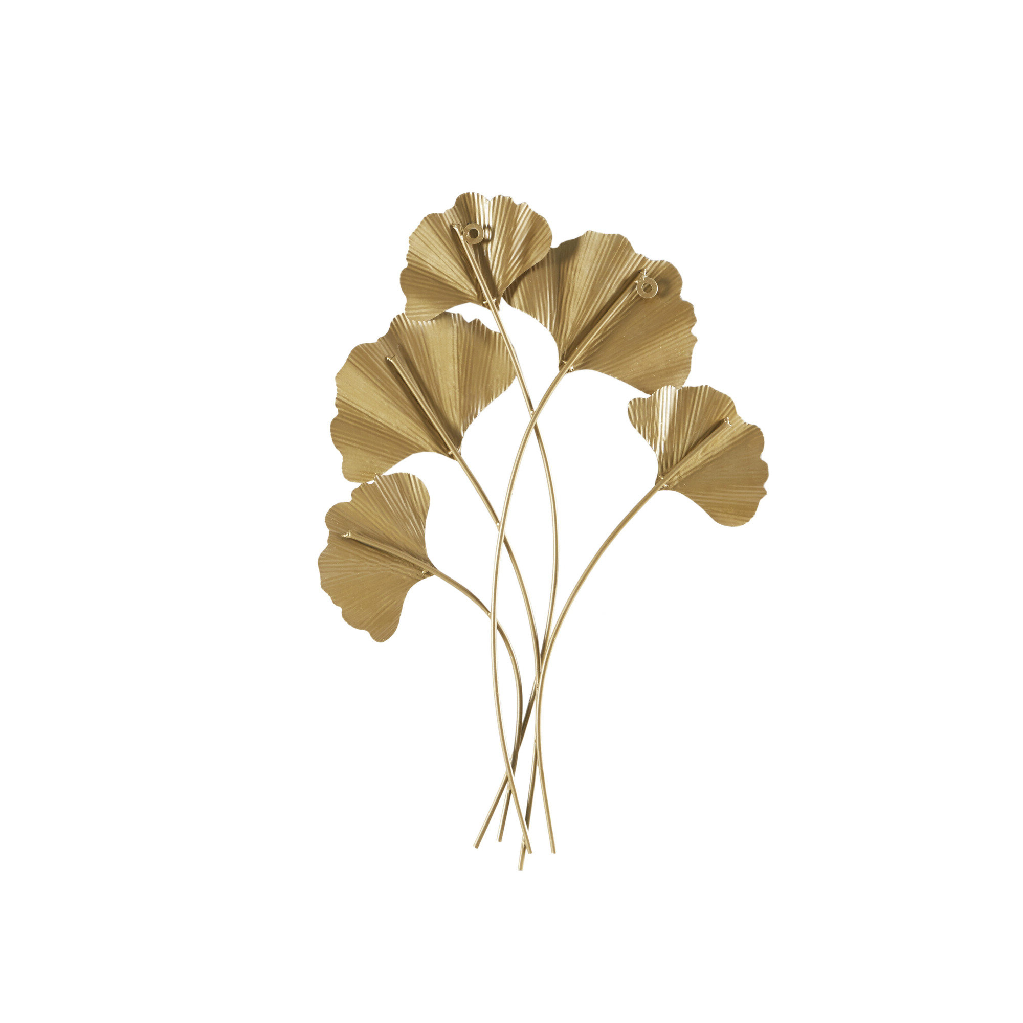 Most Current Celeste Gold Foil Ginkgo Leaf Wall Art In Ginkgo Leaf Metal Wall Décor By Winston Porter (View 11 of 20)