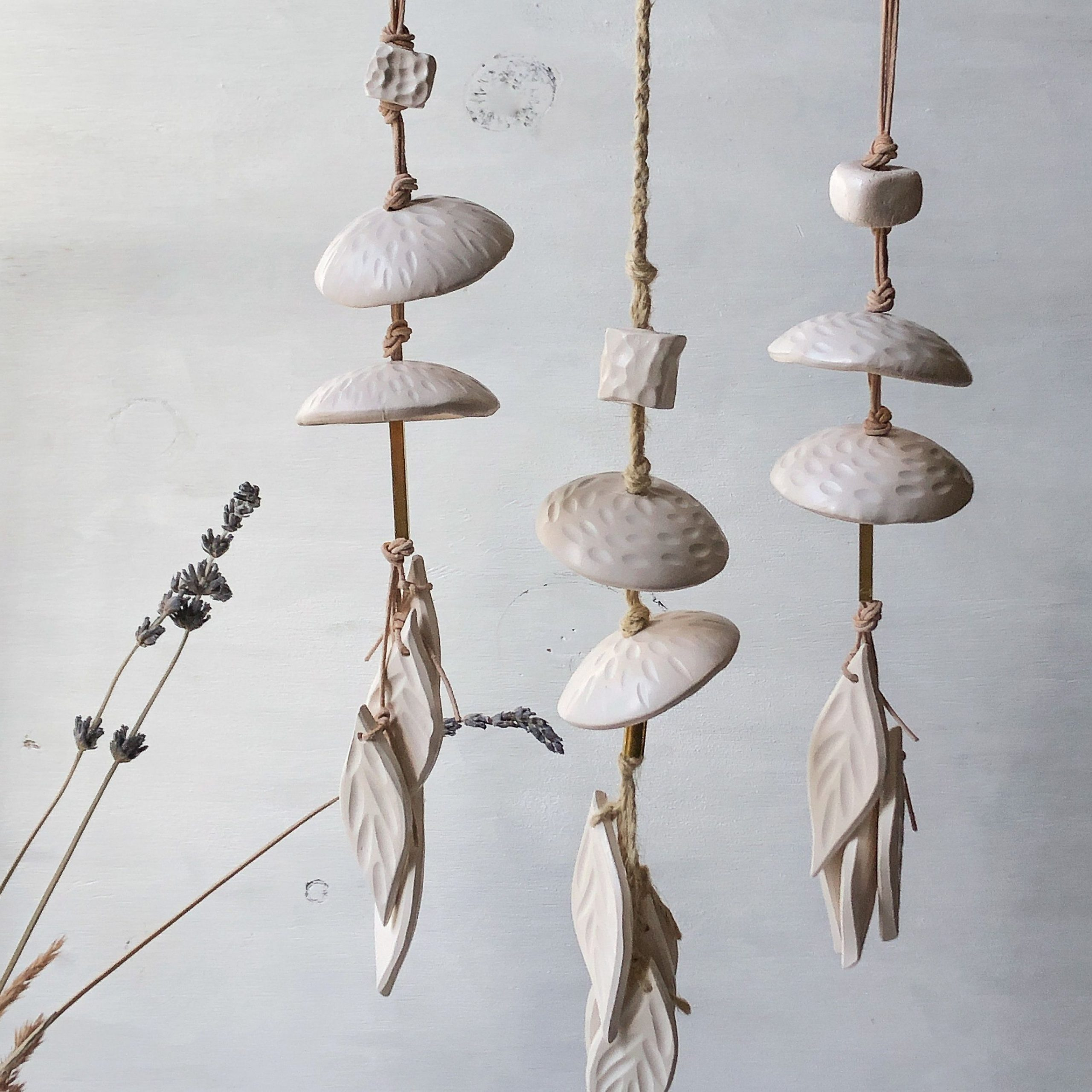 Most Current Ceramic Rustic Wall Décor Throughout Rustic Ceramic Wind Chime Minimalist Ceramic Wall Hanging (View 3 of 20)