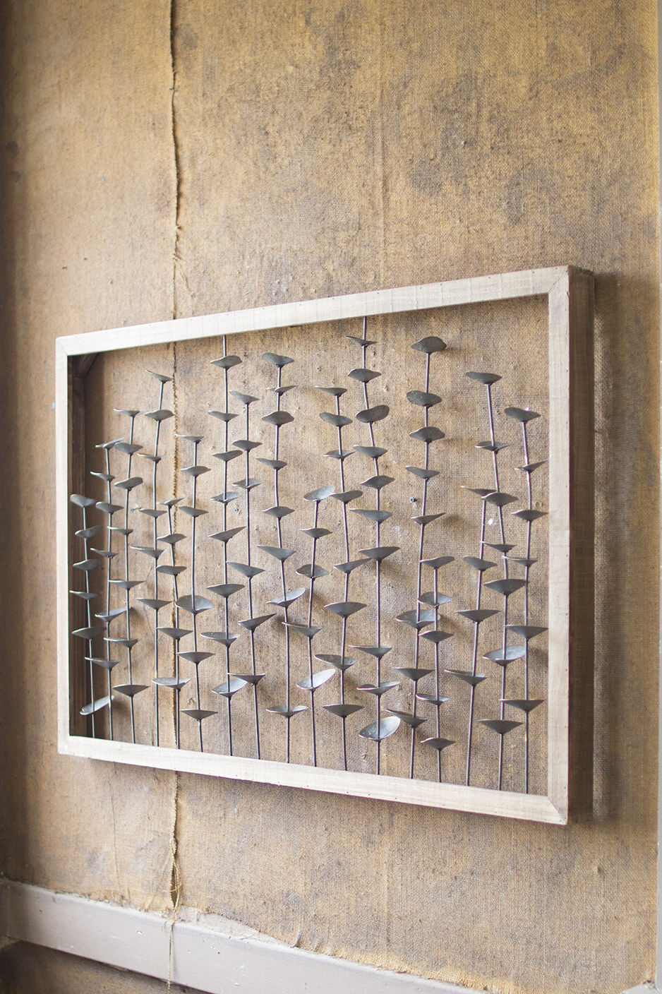 Most Current Edyth Wood And Metal Wall Décor Within Wood Framed Metal Leaves Wall Décor (View 4 of 20)