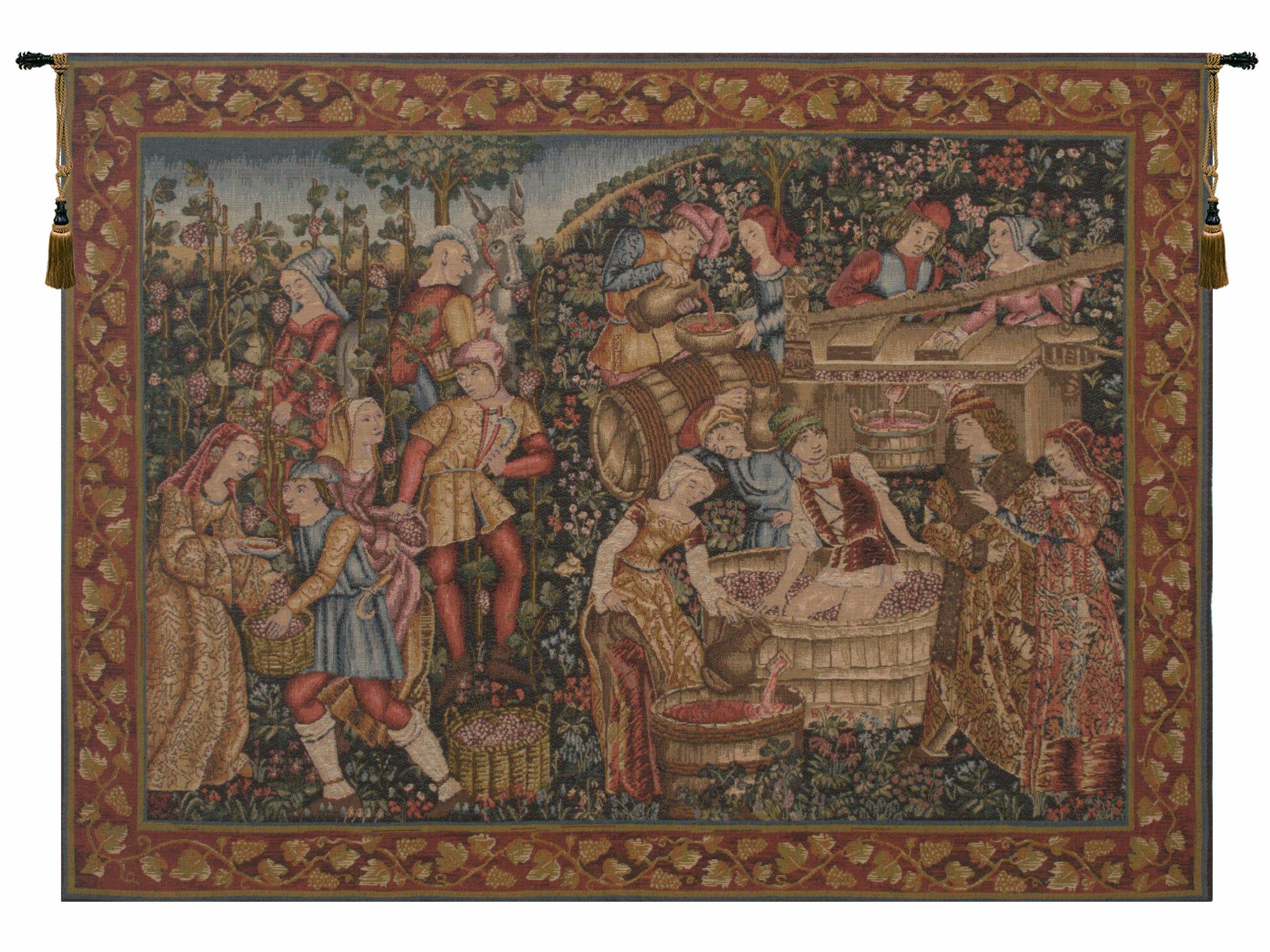 Most Current Lion I European Tapestries Regarding Grandes Vendanges European Tapestry (View 18 of 20)