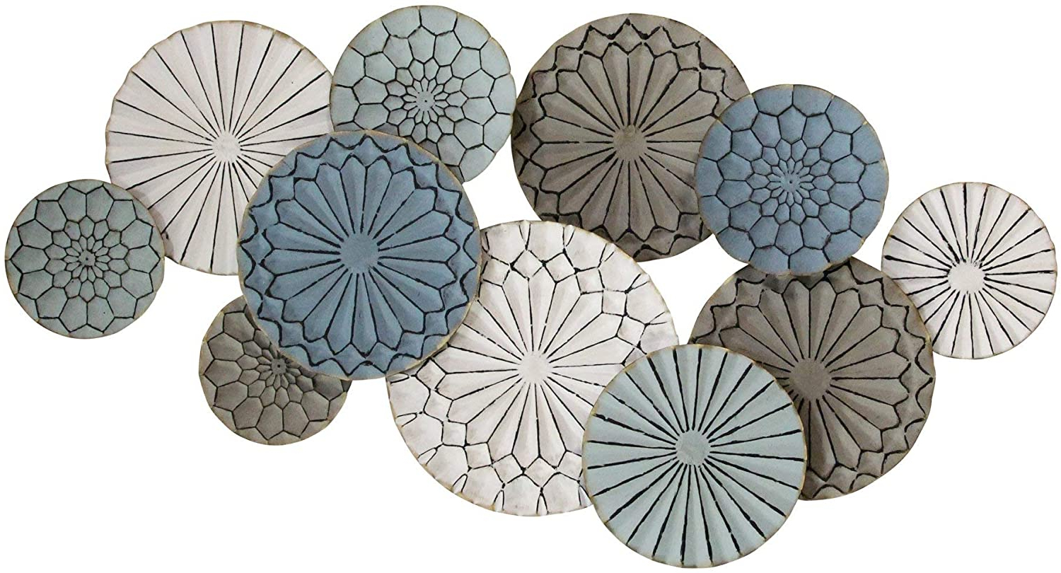Most Current Multi Plates Wall Décor By Stratton Home Decor Pertaining To Stratton Home Decor S23706 Centerpiece, 46.50wx 2.56dx (View 13 of 20)