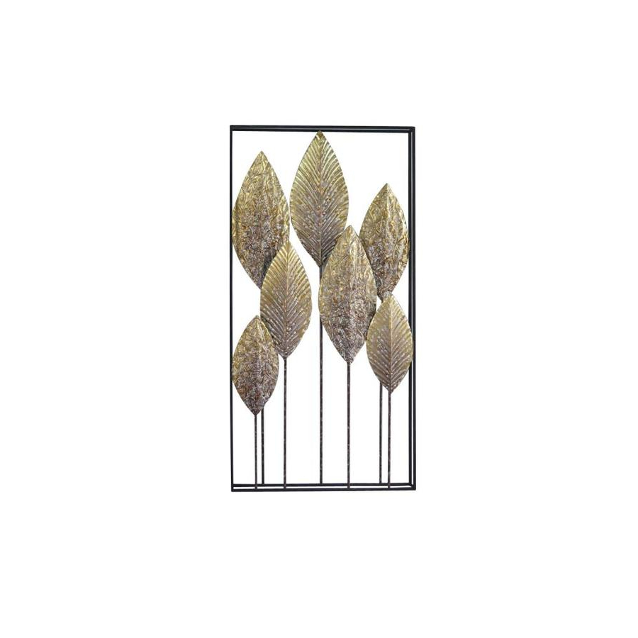 Most Current Rectangular Metal Wall Décor With Grayson Lane Large Rectangular Whitewashed Gold Leaves Metal Wall Decor 18 X (View 10 of 20)