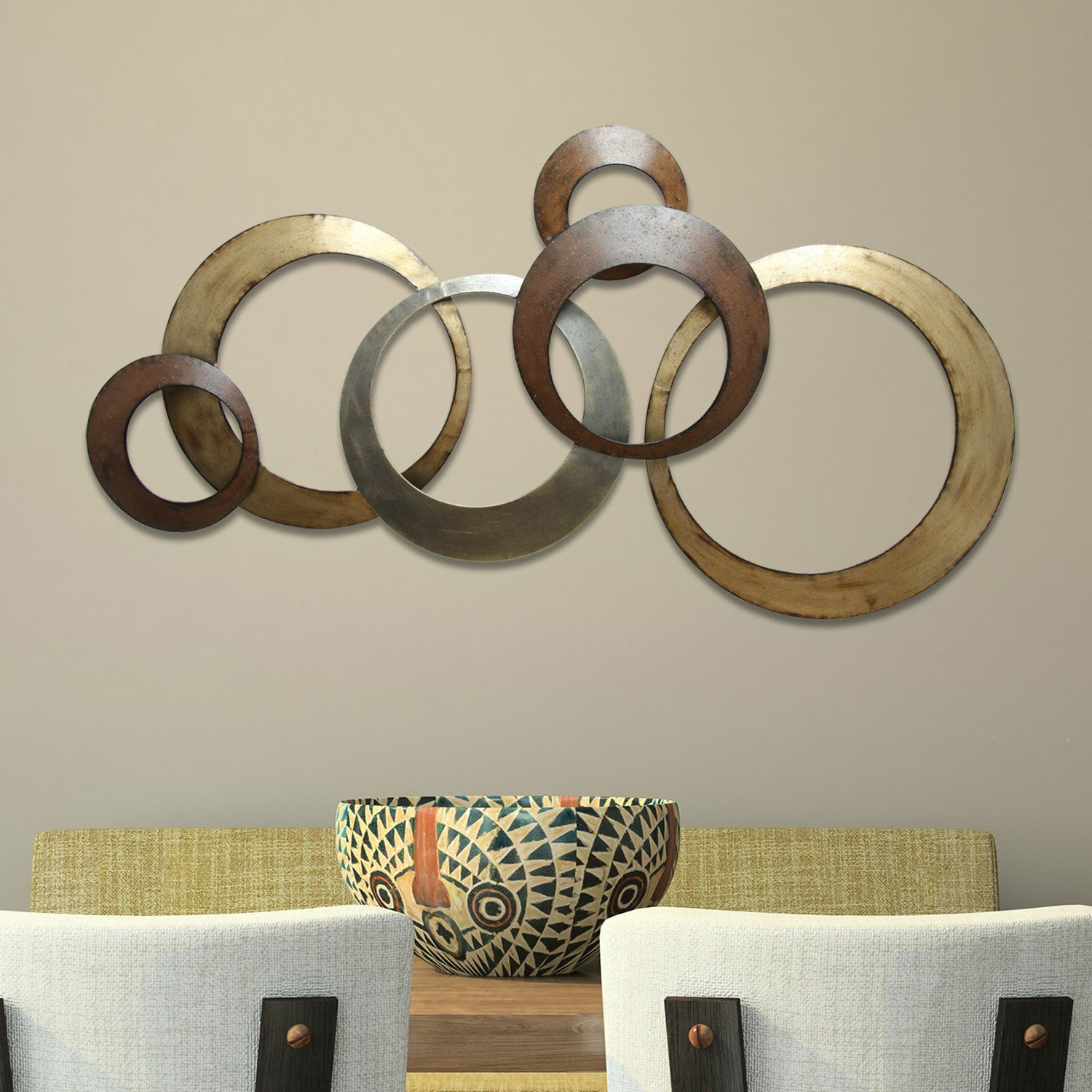 Most Current Rings Wall Décor Pertaining To Metallic Rings Wall Décor (View 2 of 20)