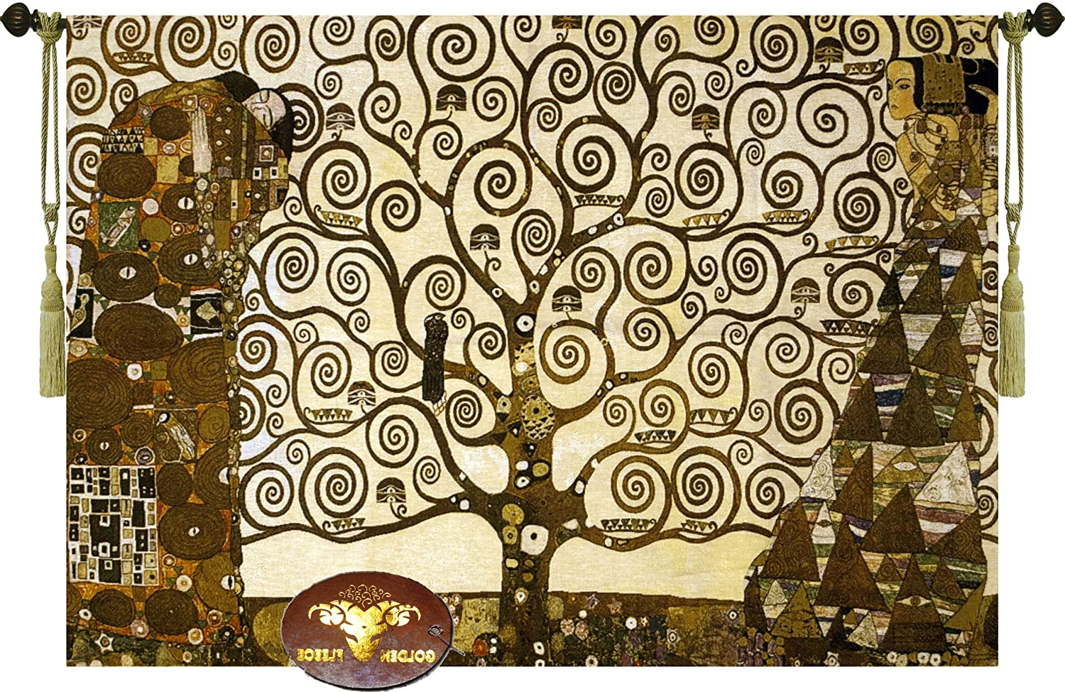 """Most Current Stoclet Friezegustav Klimt 47"""" Wx 33"""" L Tree Of Life Wall Hanging Tapestry Home Decor With Regard To Blended Fabric Klimt Tree Of Life Wall Hangings (View 3 of 20)"""