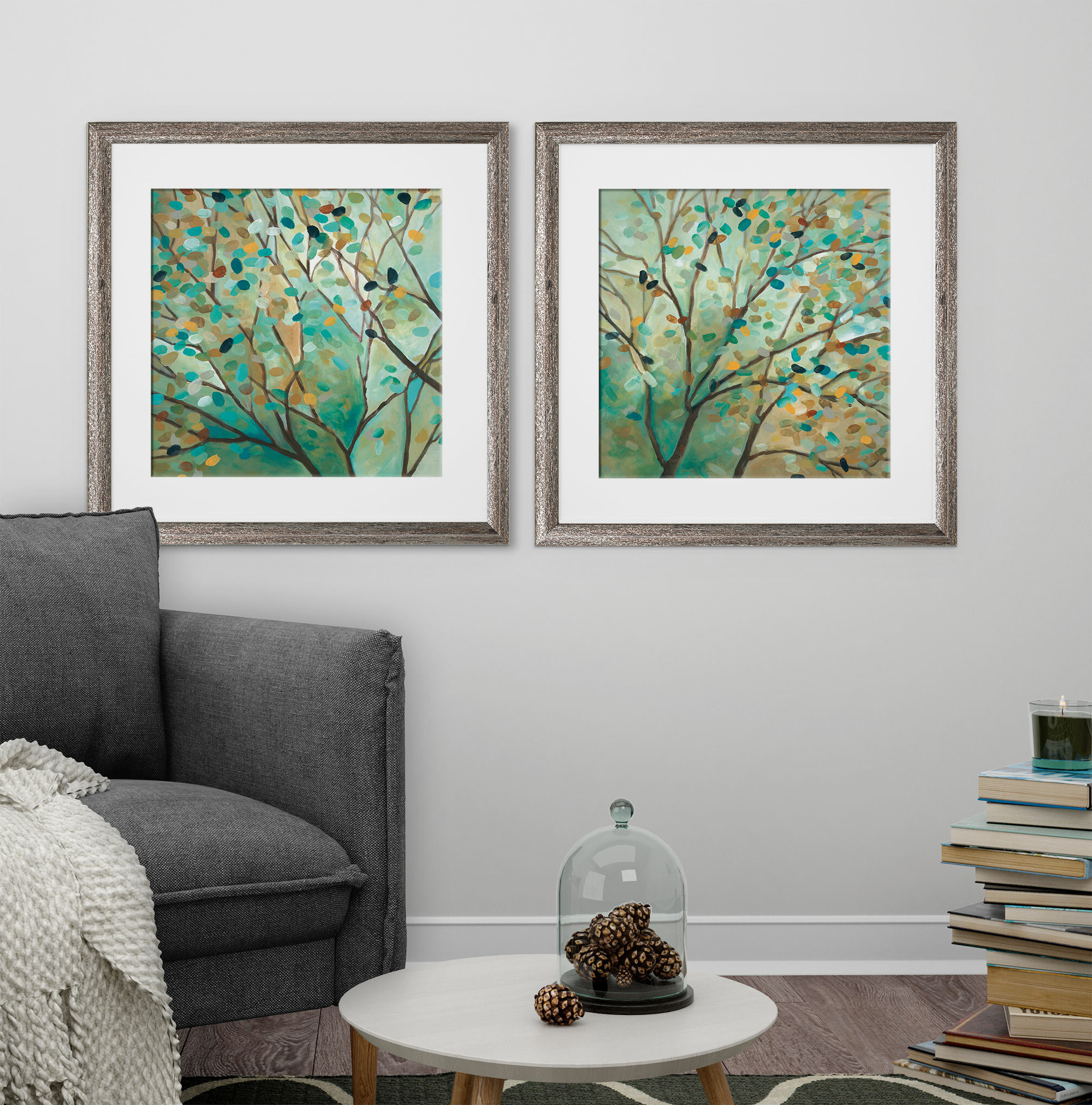 Most Popular Abstract Tree Wall Décor By Winston Porter Intended For 'tree Of Life' 2 Piece Framed Print Set (View 13 of 20)