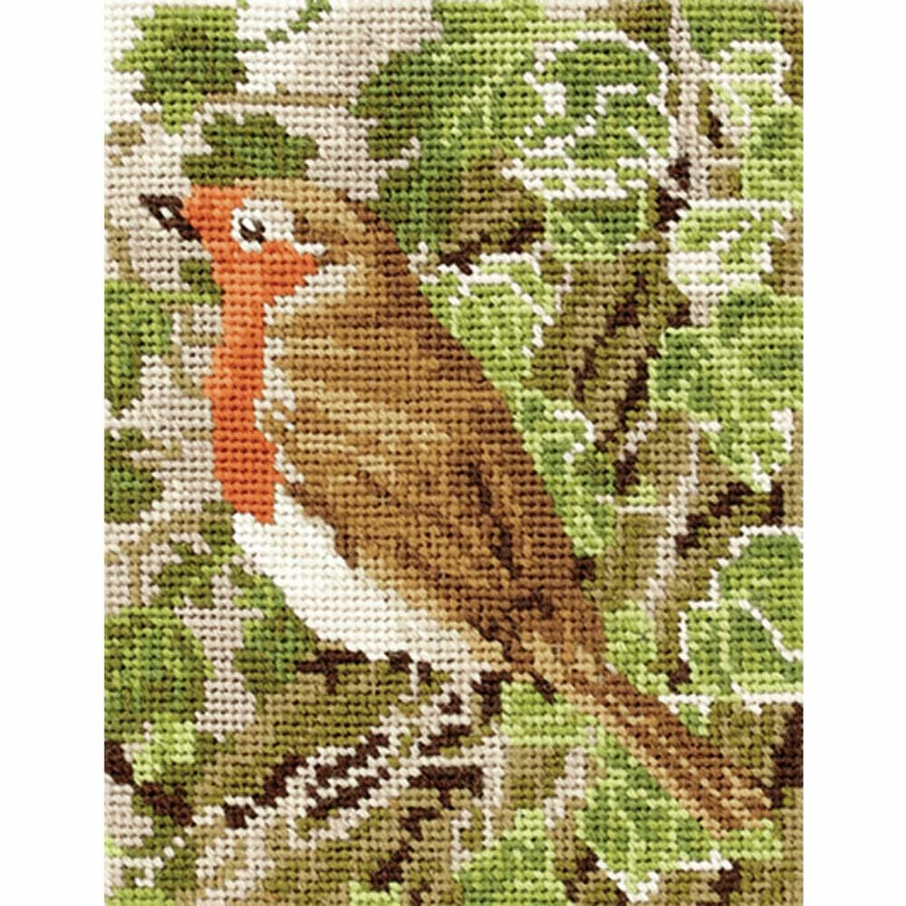 Most Popular Anchor Robin Intermediate Tapestry Kit 18 X 14cm Intended For Birds Face To Face I European Tapestries (View 13 of 20)