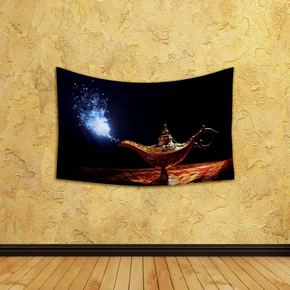 Most Popular Buy Artzfolio Magic Lamp Of Aladdin Satin Fabric Tapestry Pertaining To Blended Fabric Aladin European Wall Hangings (View 10 of 20)